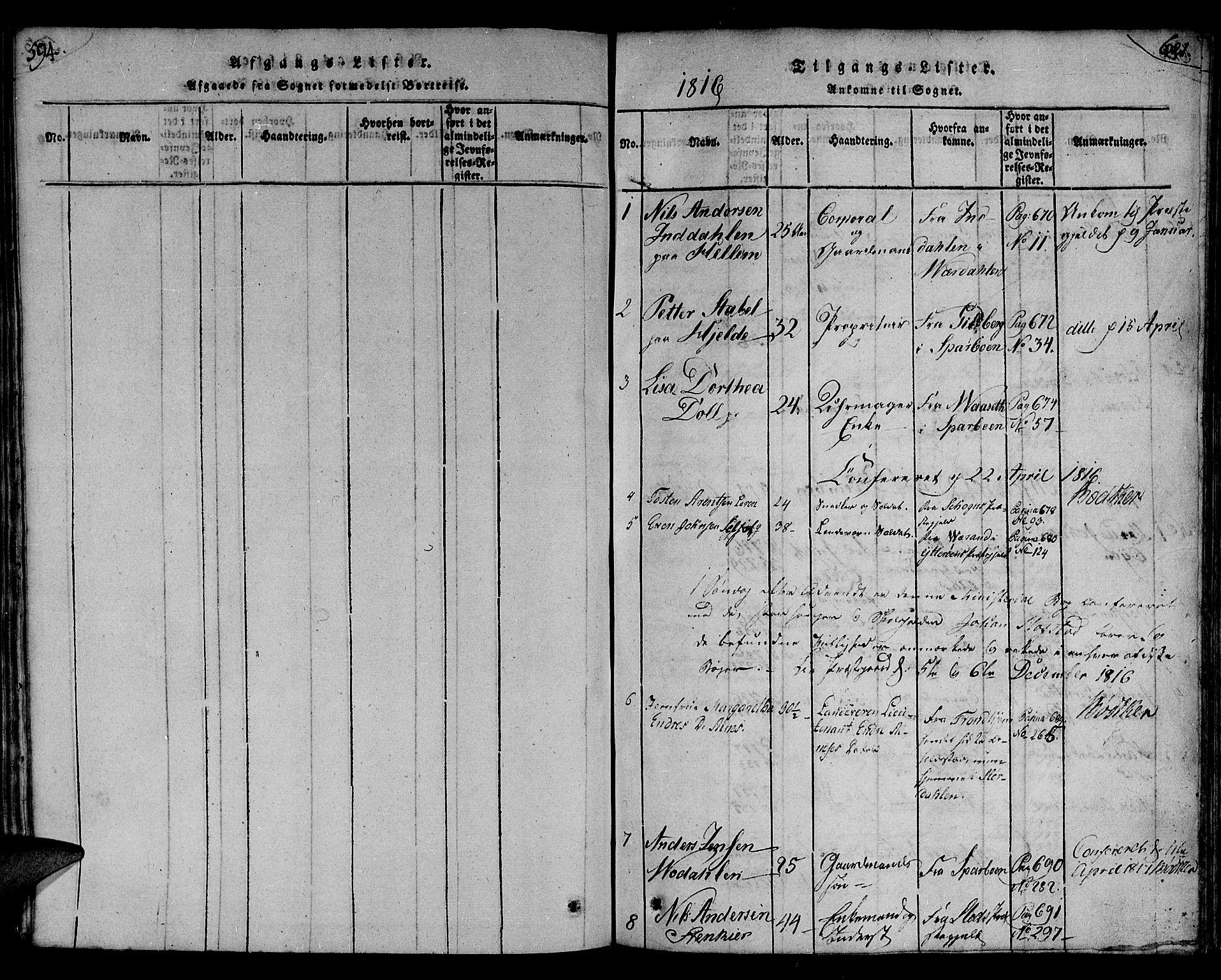 SAT, Ministerialprotokoller, klokkerbøker og fødselsregistre - Nord-Trøndelag, 730/L0275: Ministerialbok nr. 730A04, 1816-1822, s. 594-621