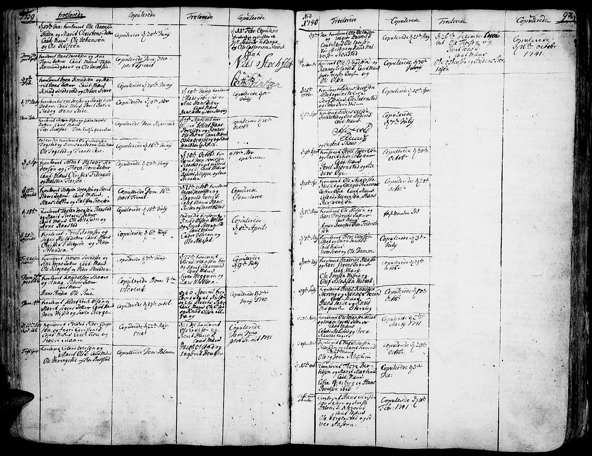 SAH, Vågå prestekontor, Ministerialbok nr. 1, 1739-1810, s. 97
