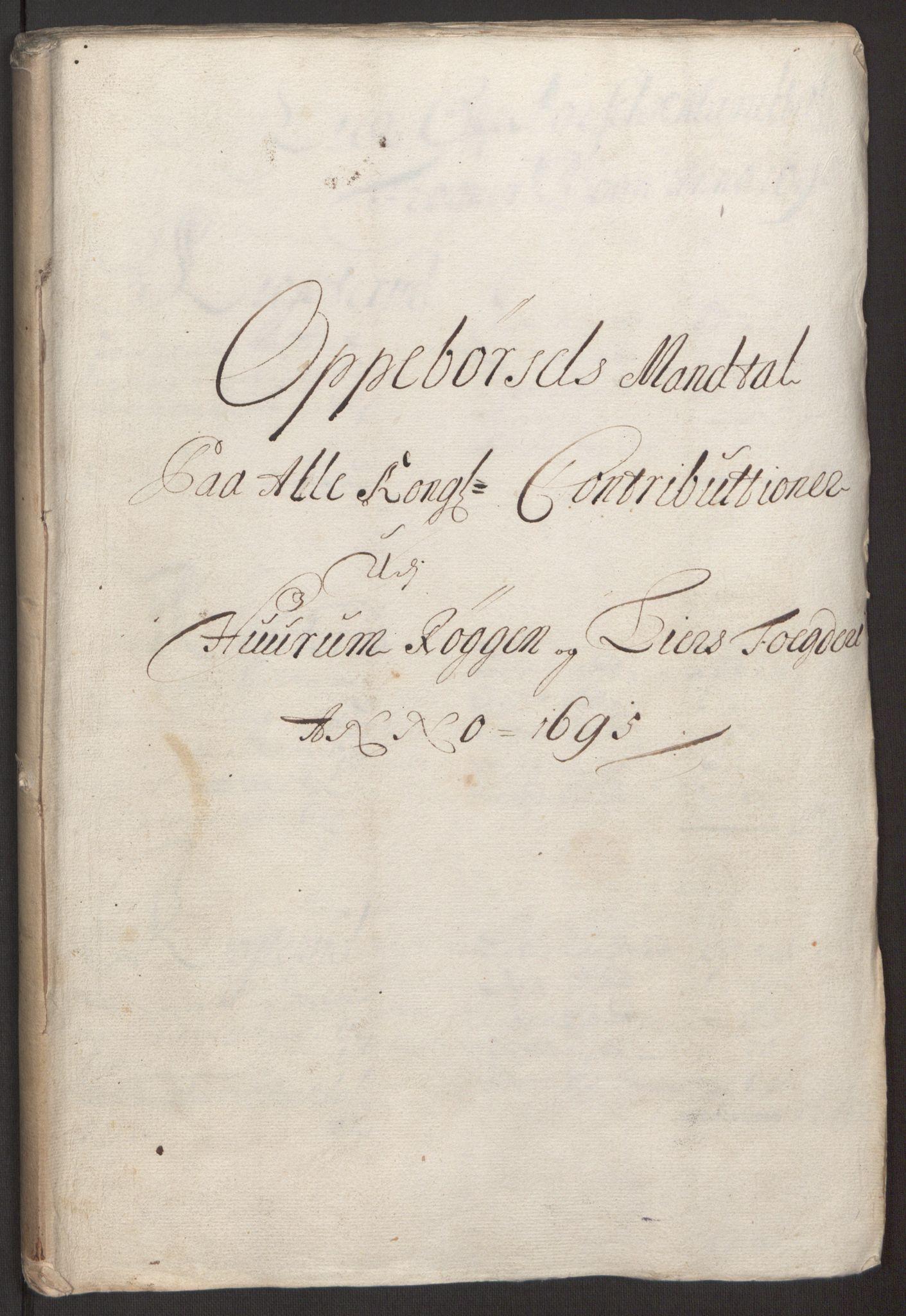 RA, Rentekammeret inntil 1814, Reviderte regnskaper, Fogderegnskap, R30/L1694: Fogderegnskap Hurum, Røyken, Eiker og Lier, 1694-1696, s. 186