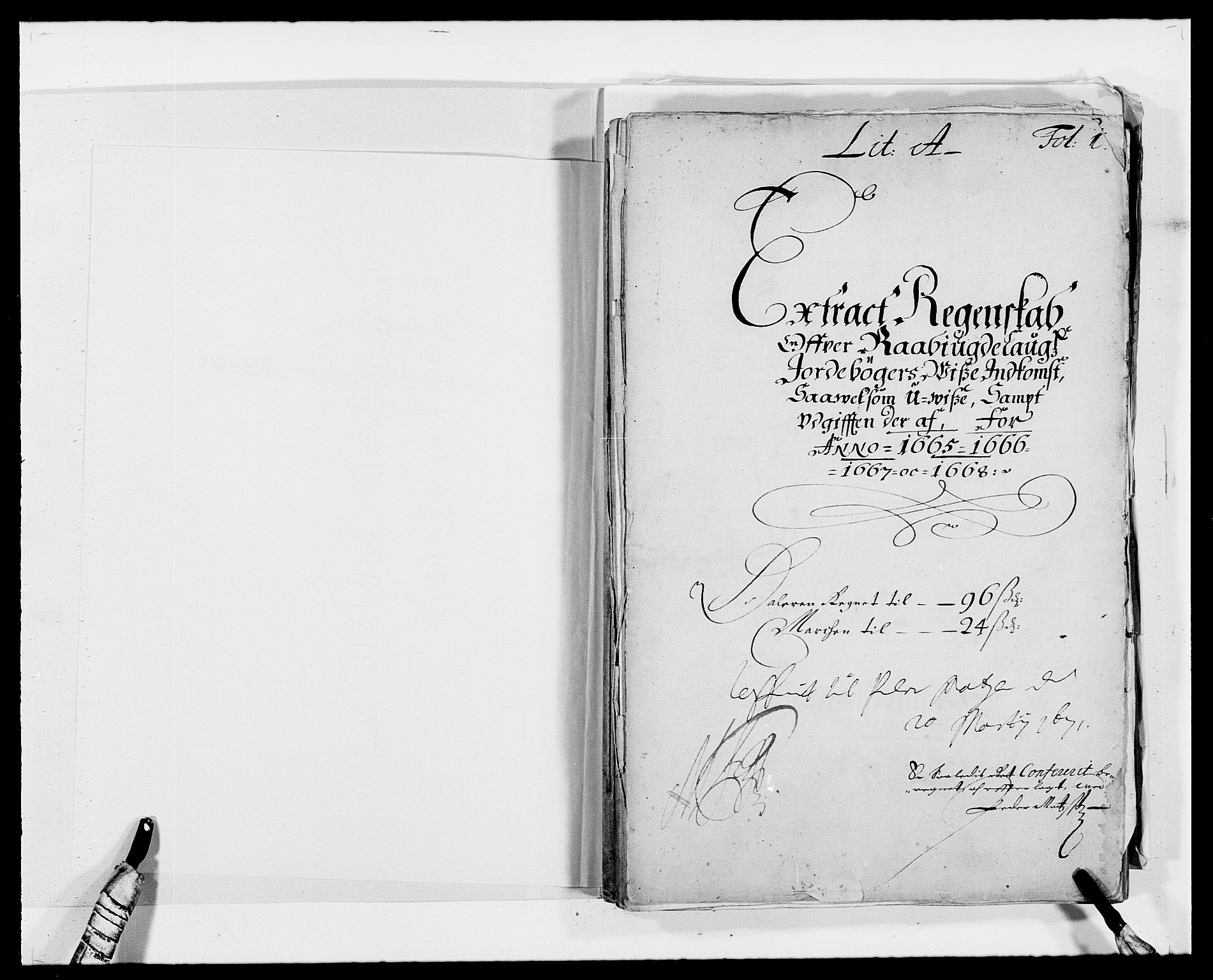 RA, Rentekammeret inntil 1814, Reviderte regnskaper, Fogderegnskap, R40/L2431: Fogderegnskap Råbyggelag, 1664-1668, s. 94