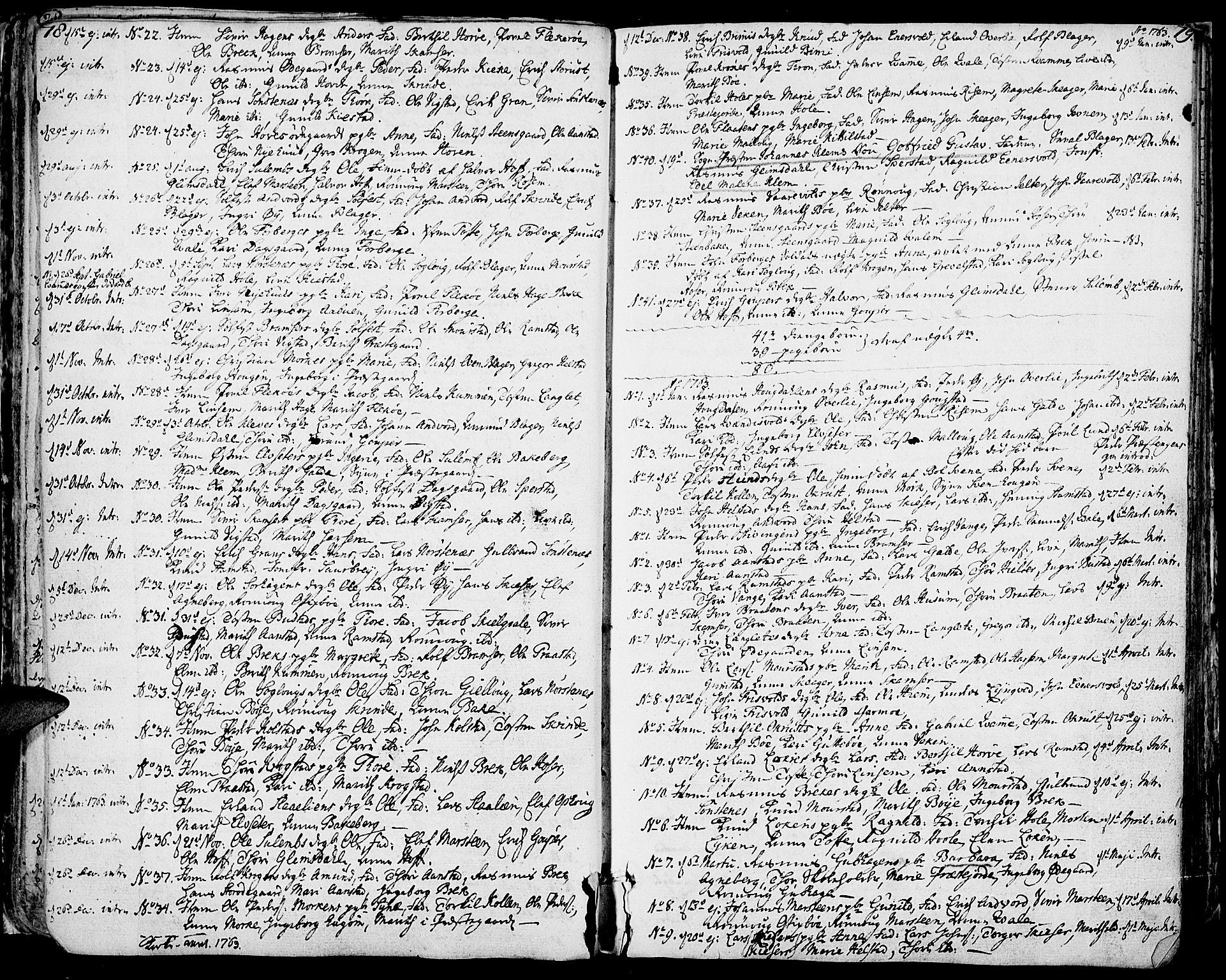 SAH, Lom prestekontor, K/L0002: Ministerialbok nr. 2, 1749-1801, s. 78-79