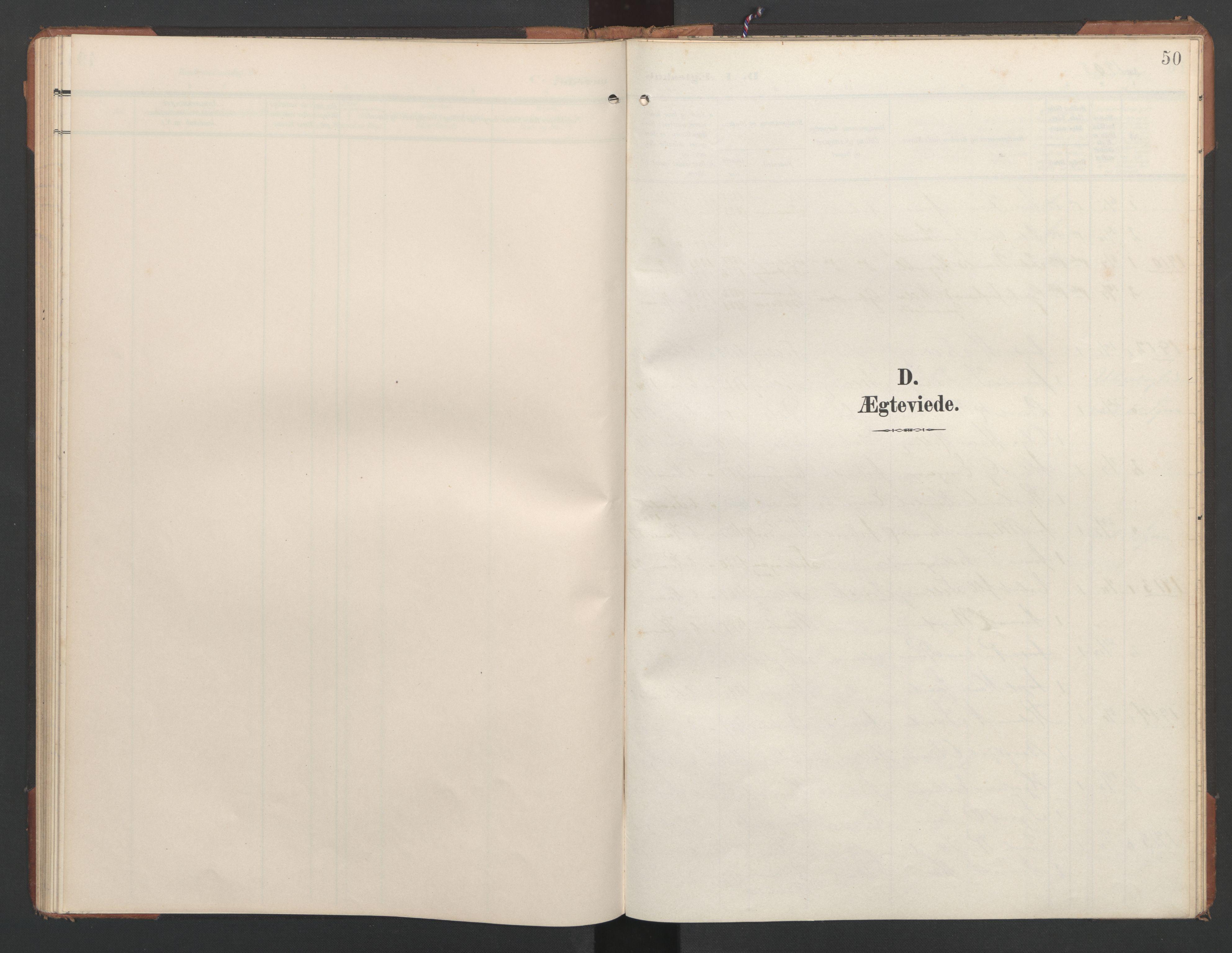 SAT, Ministerialprotokoller, klokkerbøker og fødselsregistre - Nord-Trøndelag, 748/L0465: Klokkerbok nr. 748C01, 1908-1960, s. 50