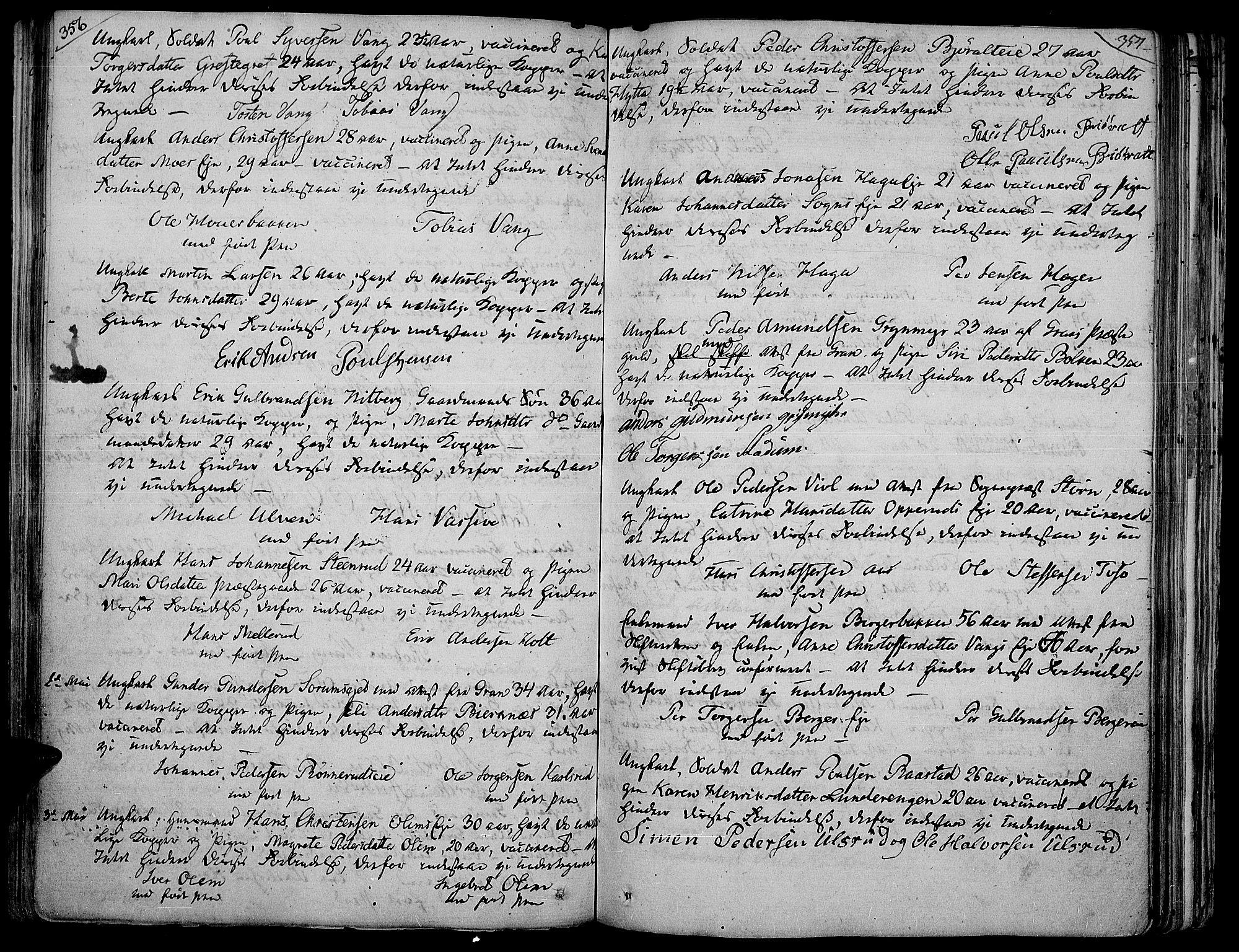 SAH, Jevnaker prestekontor, Ministerialbok nr. 4, 1800-1861, s. 356-357