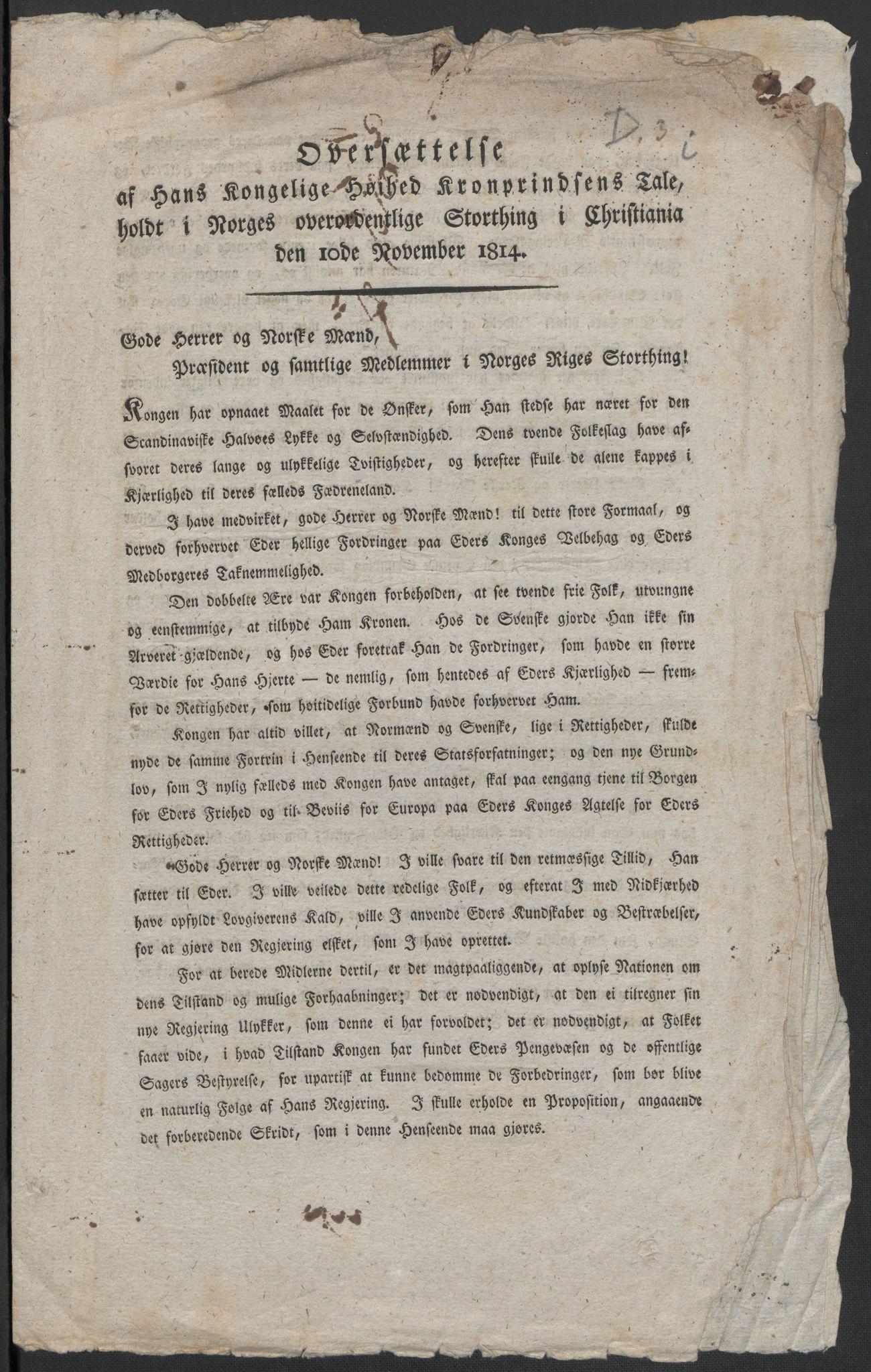 RA, Christie, Wilhelm Frimann Koren, F/L0004, 1814, s. 218