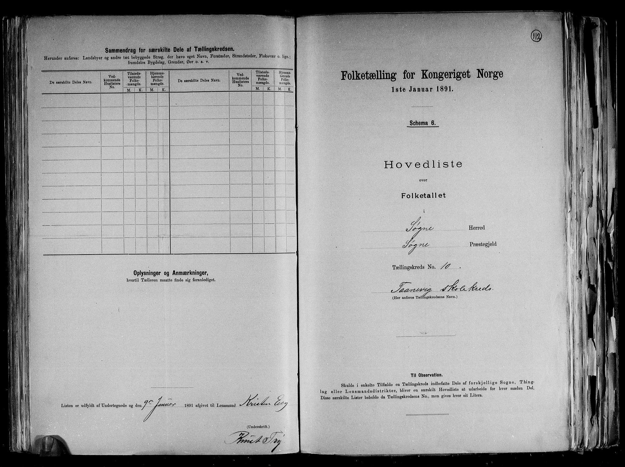 RA, Folketelling 1891 for 1018 Søgne herred, 1891, s. 28