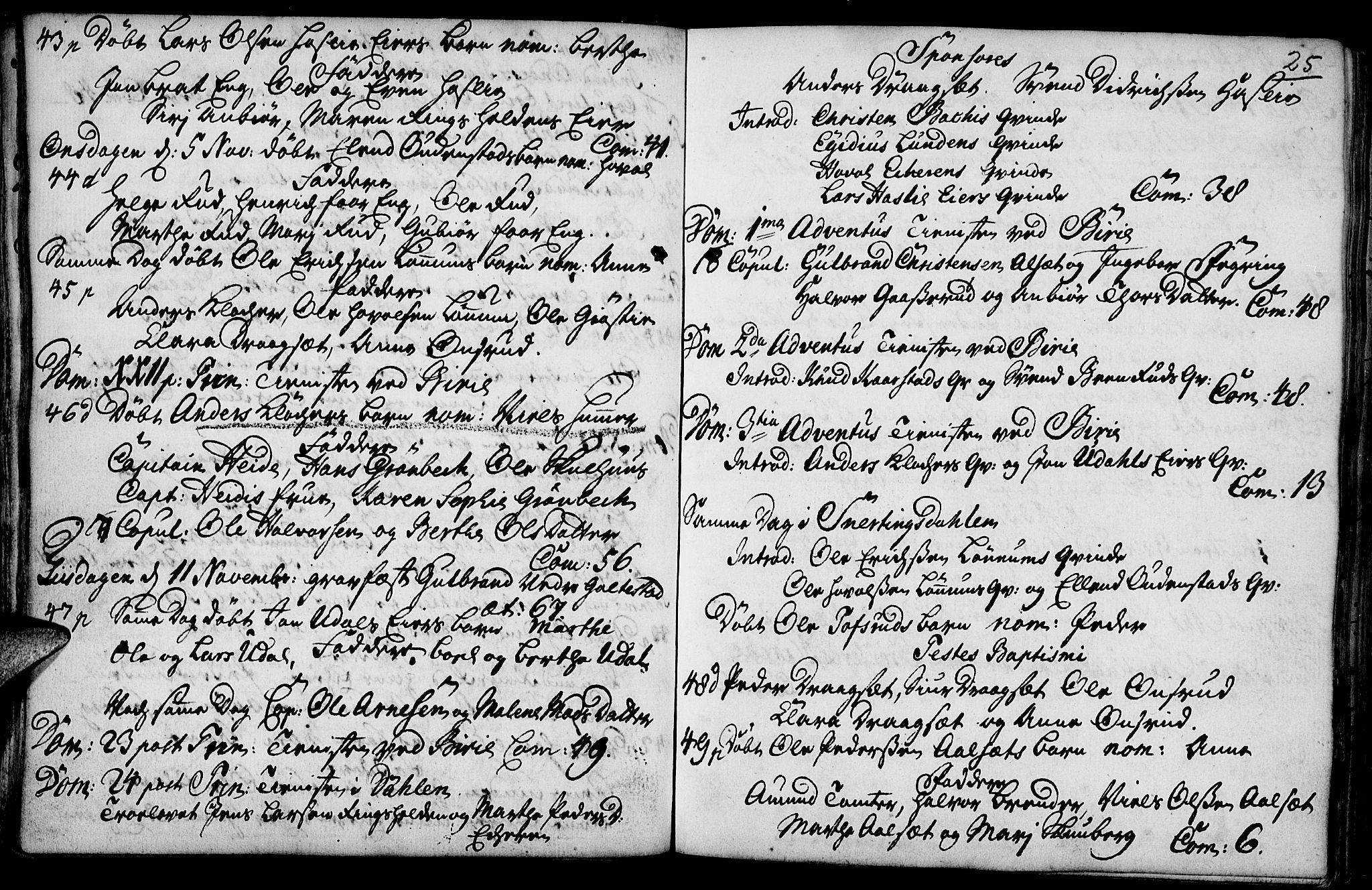SAH, Biri prestekontor, Ministerialbok nr. 1, 1730-1754, s. 25