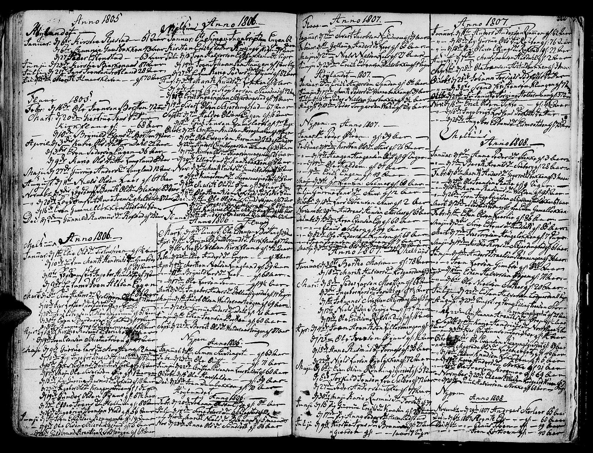 SAT, Ministerialprotokoller, klokkerbøker og fødselsregistre - Sør-Trøndelag, 691/L1061: Ministerialbok nr. 691A02 /1, 1768-1815, s. 222