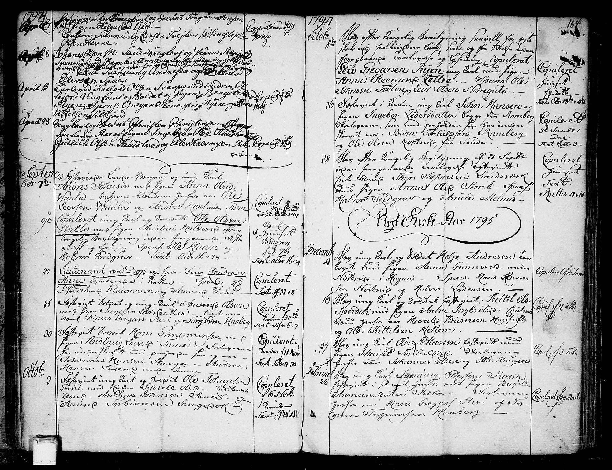 SAKO, Heddal kirkebøker, F/Fa/L0004: Ministerialbok nr. I 4, 1784-1814, s. 164