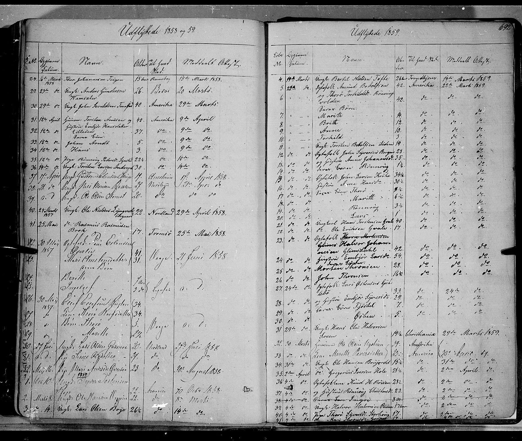 SAH, Lom prestekontor, K/L0006: Ministerialbok nr. 6B, 1837-1863, s. 692