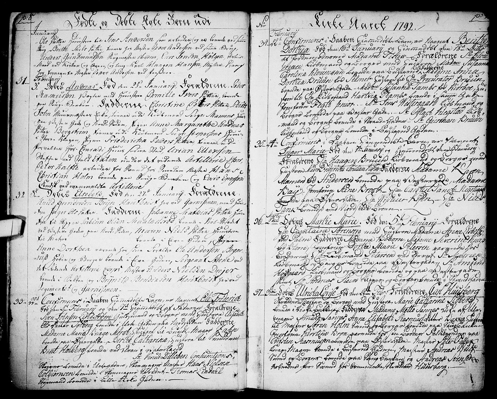 SAO, Halden prestekontor Kirkebøker, F/Fa/L0002: Ministerialbok nr. I 2, 1792-1812, s. 8-9