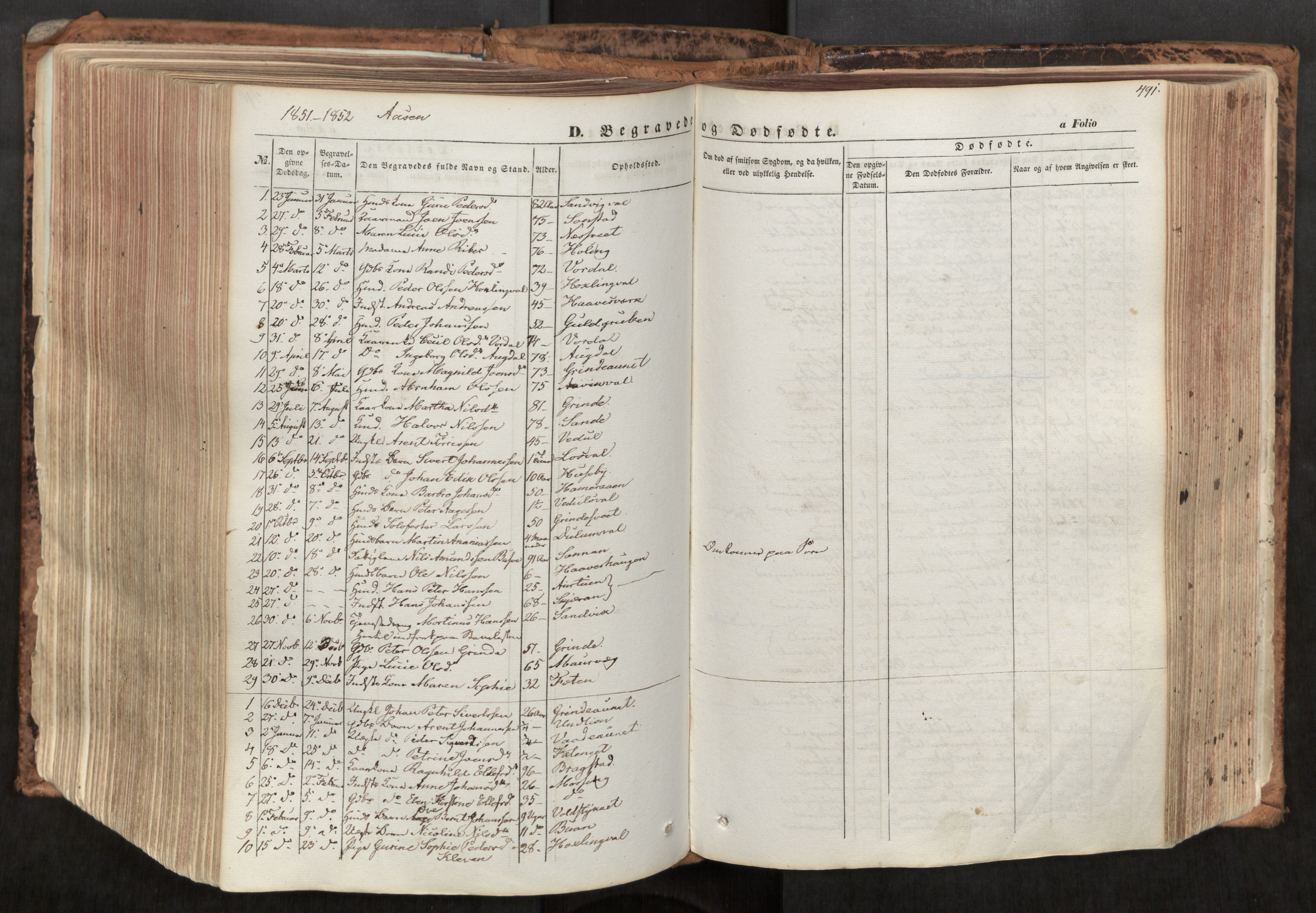 SAT, Ministerialprotokoller, klokkerbøker og fødselsregistre - Nord-Trøndelag, 713/L0116: Ministerialbok nr. 713A07, 1850-1877, s. 491