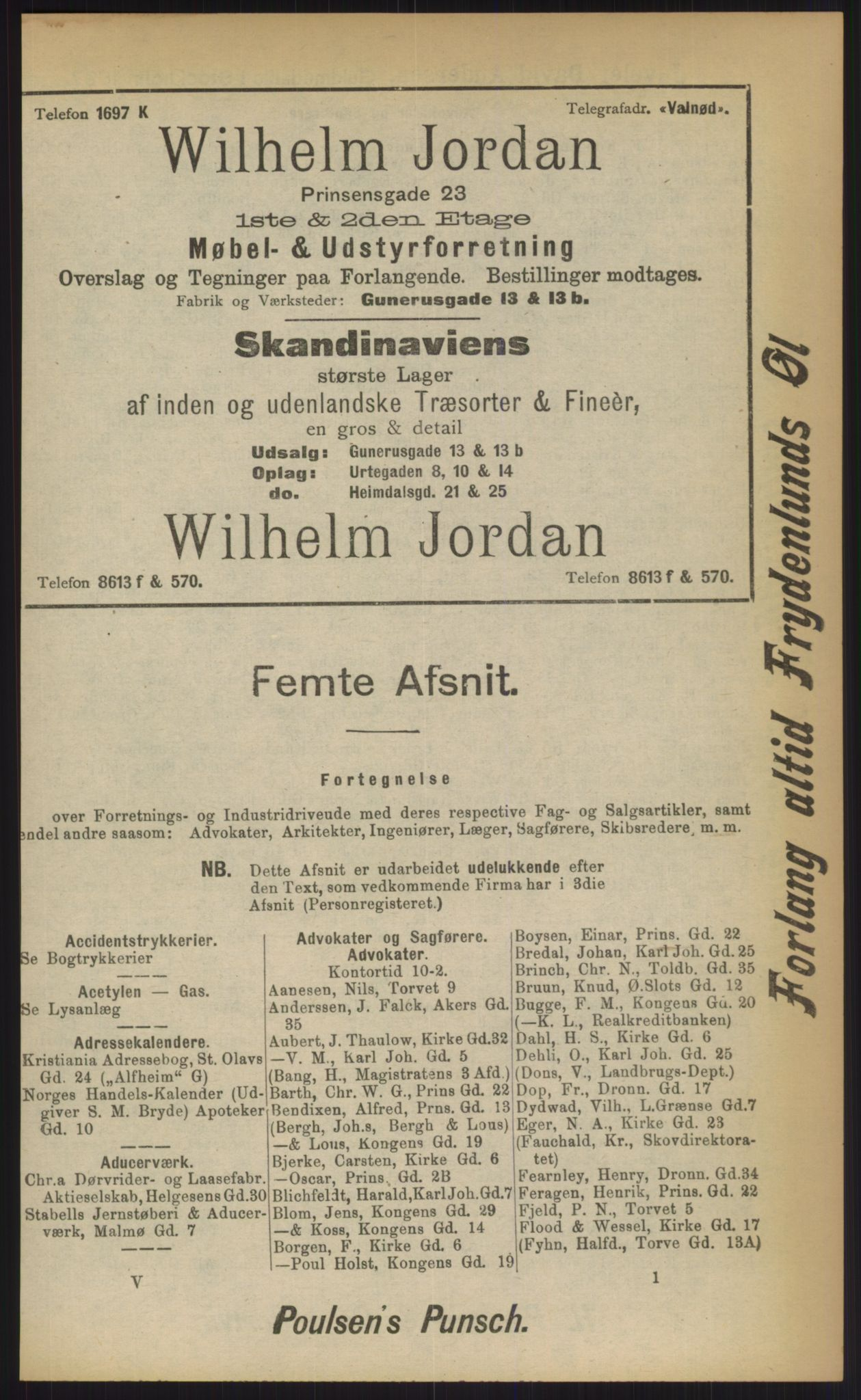 RA, Kristiania adressebok (publikasjon)*, 1903, s. upaginert
