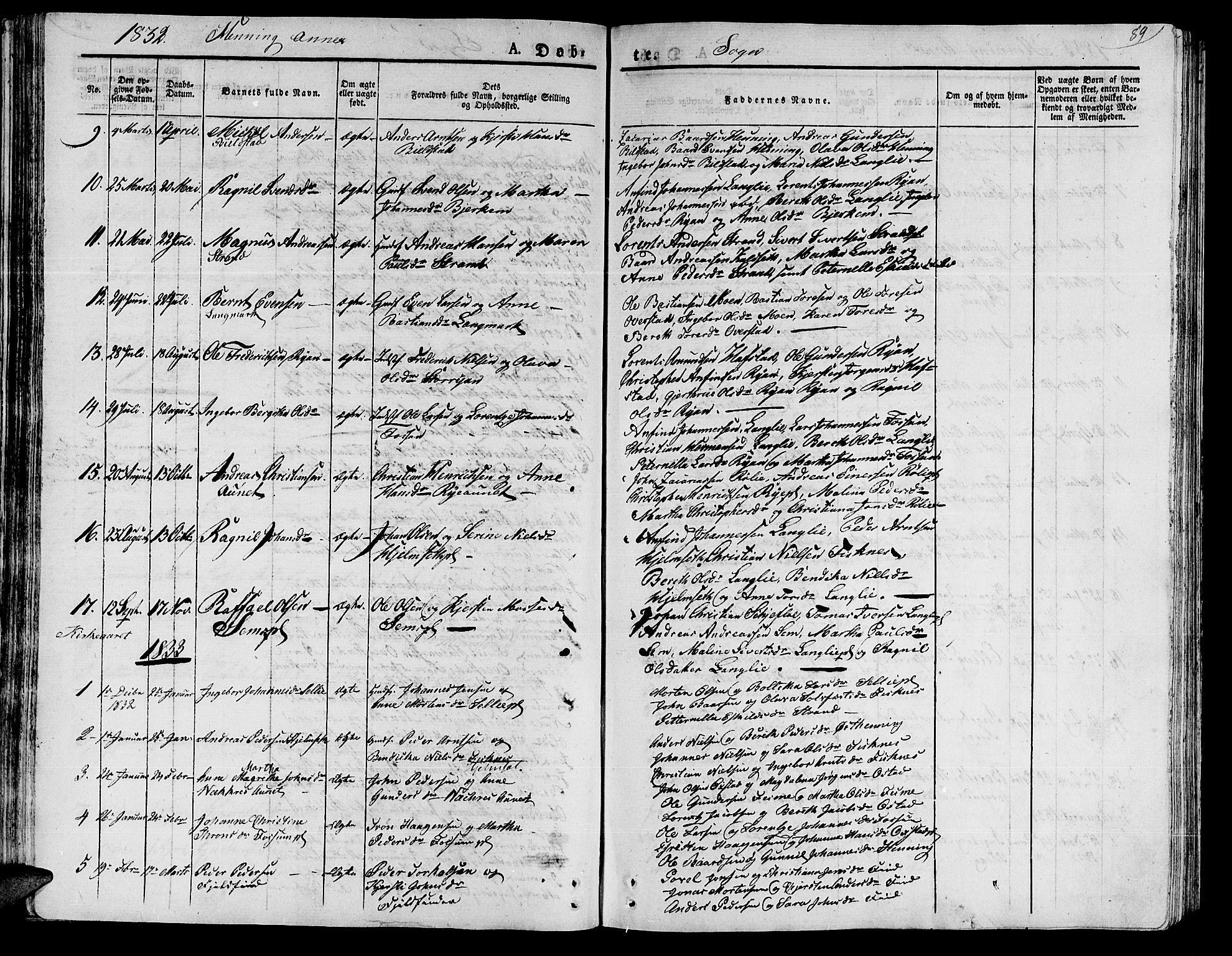 SAT, Ministerialprotokoller, klokkerbøker og fødselsregistre - Nord-Trøndelag, 735/L0336: Ministerialbok nr. 735A05 /3, 1825-1835, s. 89