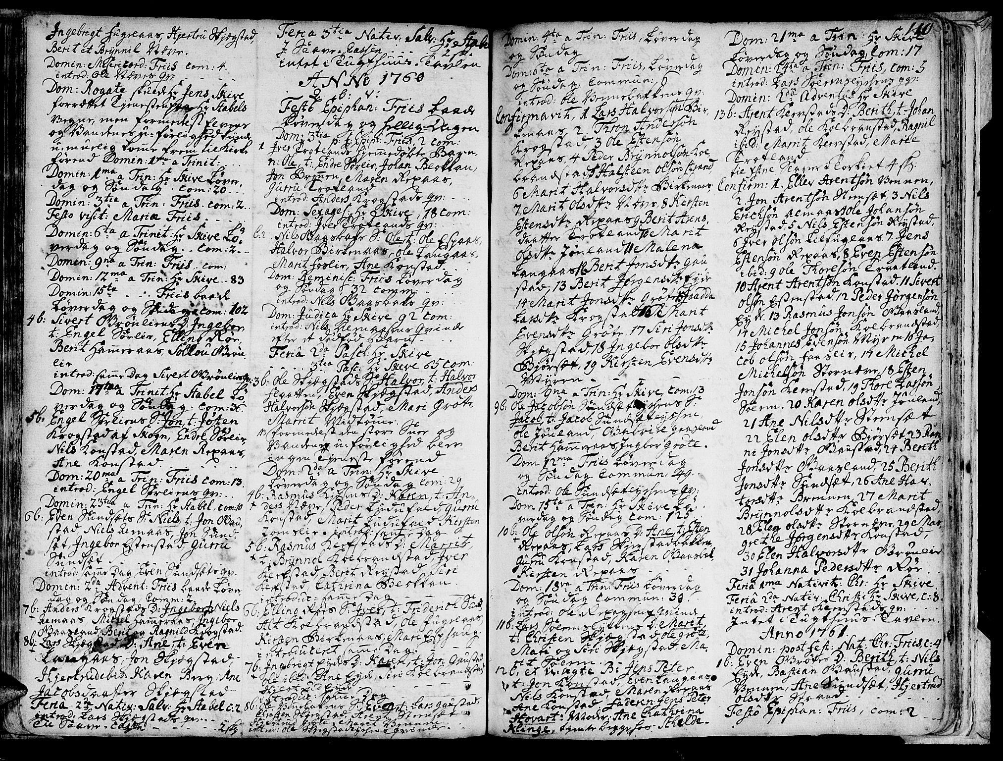 SAT, Ministerialprotokoller, klokkerbøker og fødselsregistre - Sør-Trøndelag, 691/L1060: Ministerialbok nr. 691A01 /4, 1740-1767, s. 110