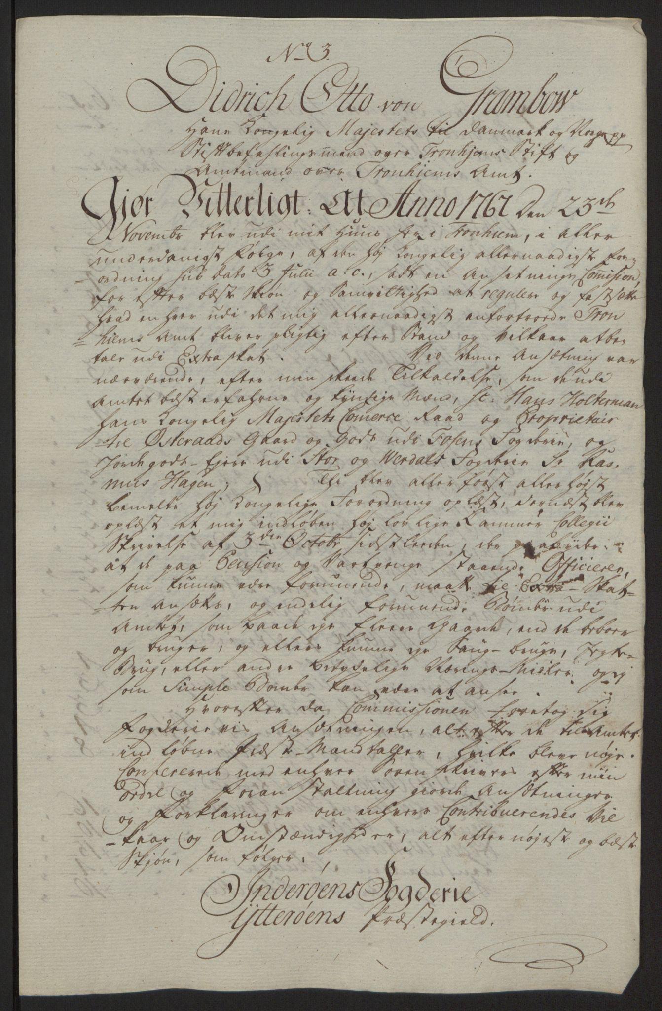 RA, Rentekammeret inntil 1814, Reviderte regnskaper, Fogderegnskap, R63/L4420: Ekstraskatten Inderøy, 1762-1772, s. 429