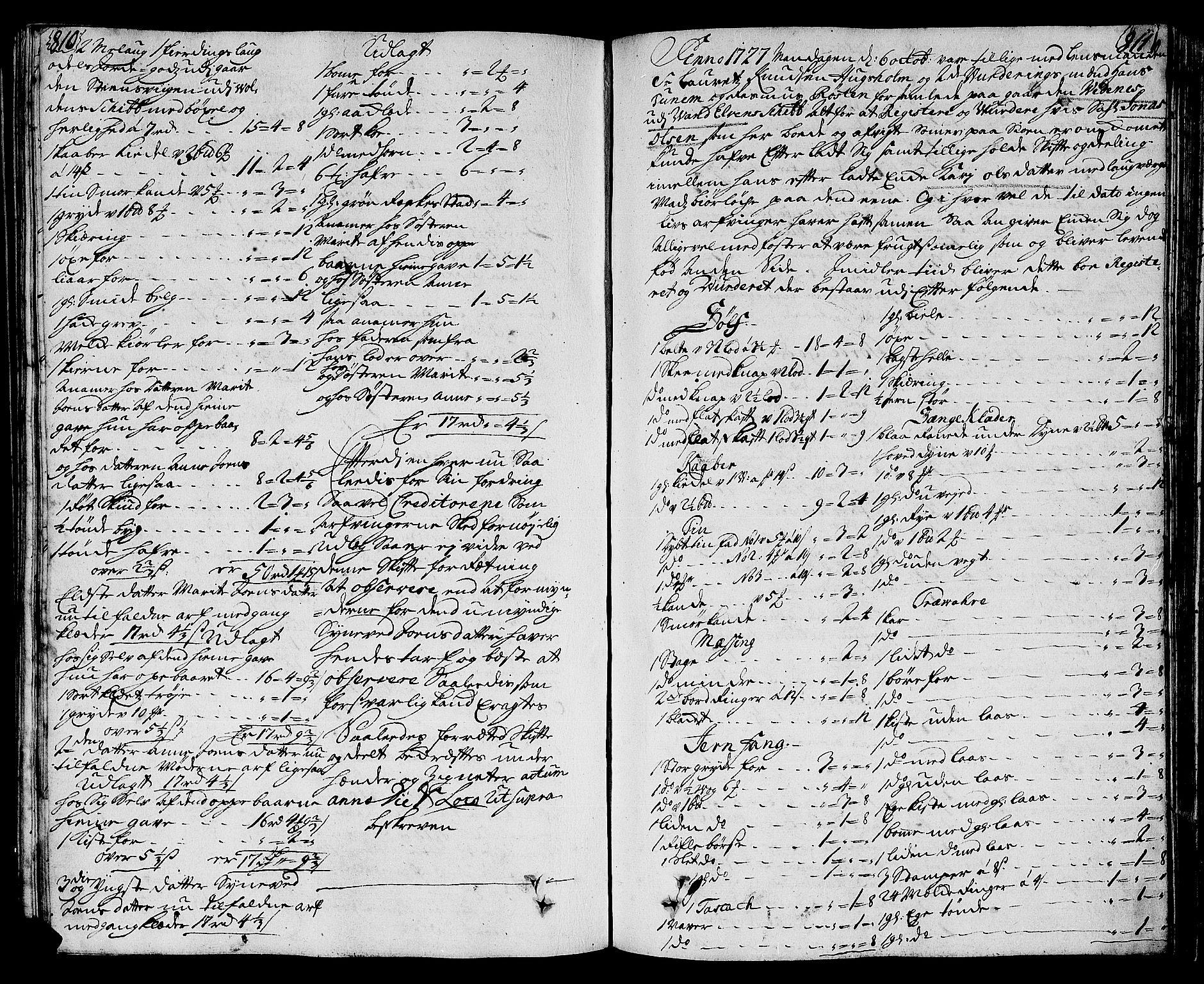 SAT, Sunnmøre sorenskriveri, 3/3A/L0009: Skifteprotokoll 07, 1725-1728, s. 810-811