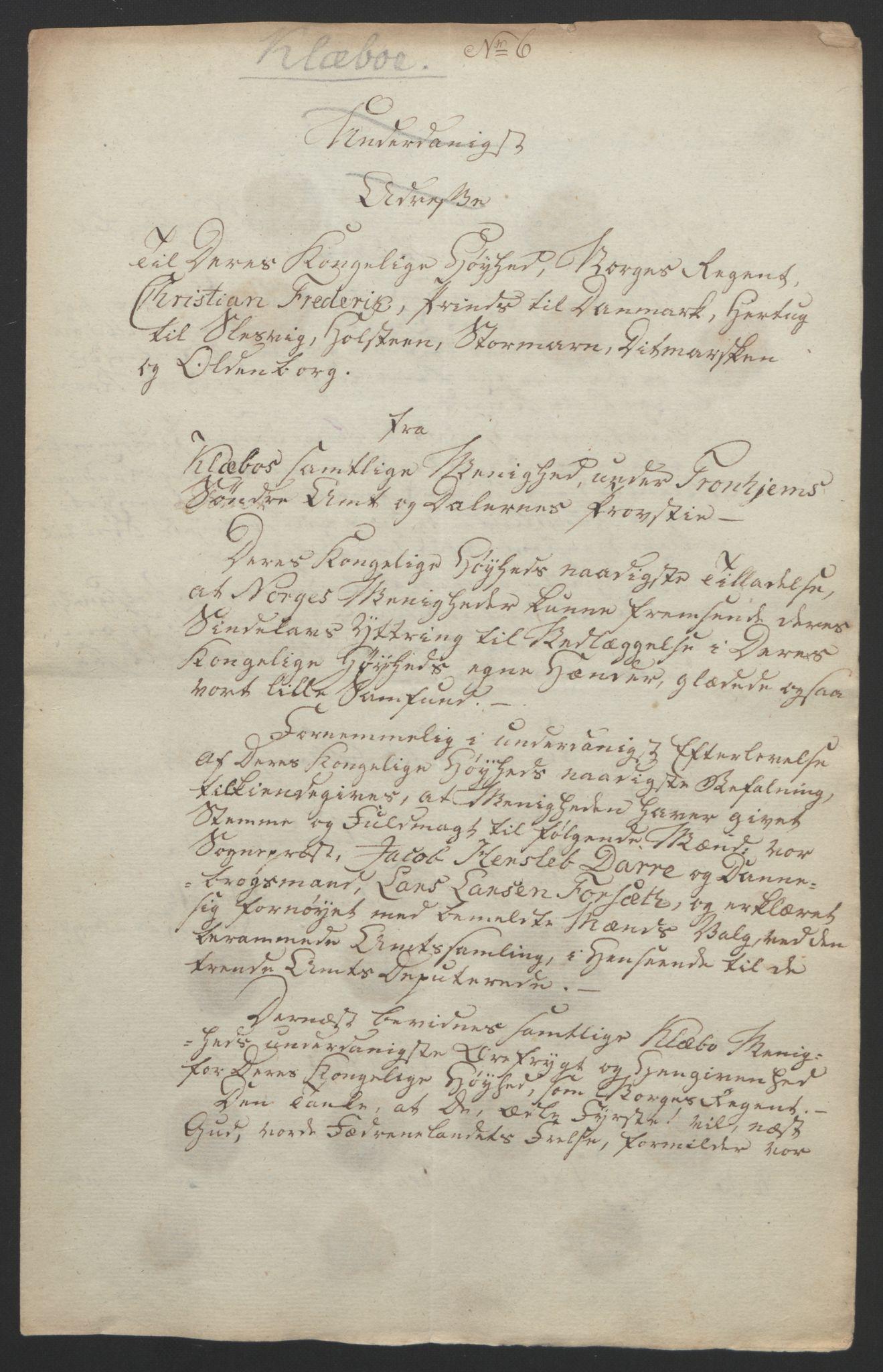 RA, Statsrådssekretariatet, D/Db/L0008: Fullmakter for Eidsvollsrepresentantene i 1814. , 1814, s. 438