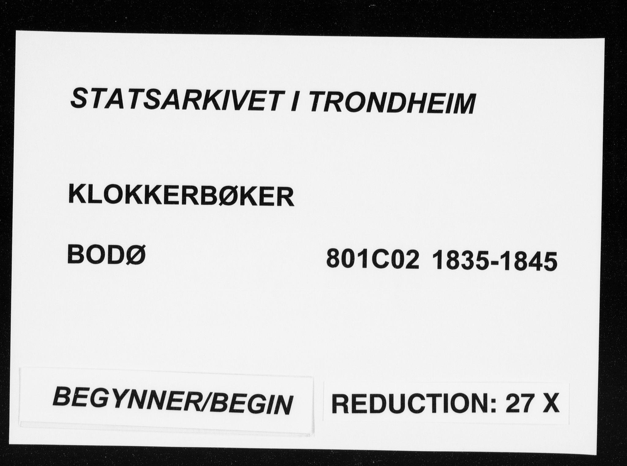 SAT, Ministerialprotokoller, klokkerbøker og fødselsregistre - Nordland, 801/L0027: Klokkerbok nr. 801C02, 1835-1845