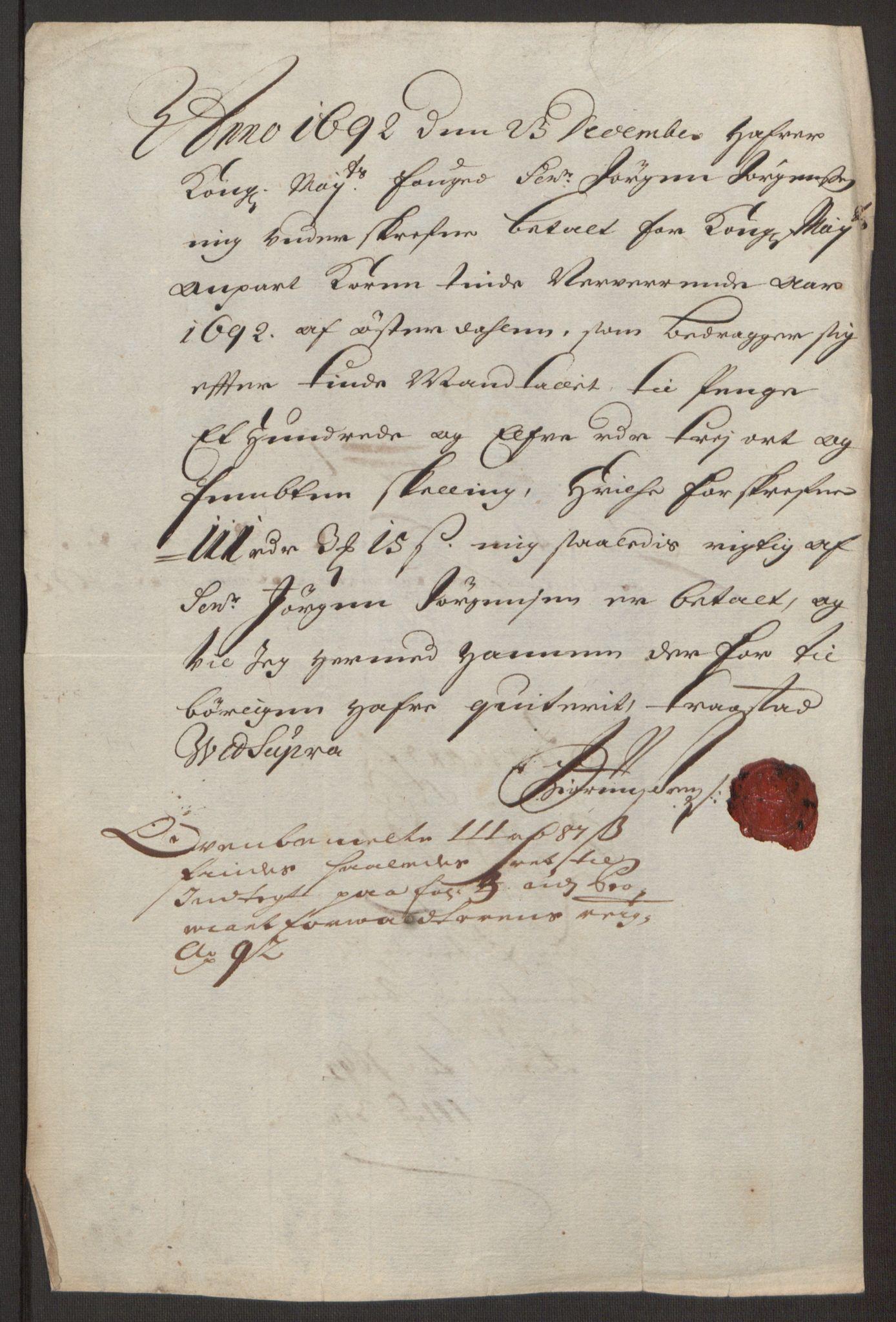 RA, Rentekammeret inntil 1814, Reviderte regnskaper, Fogderegnskap, R13/L0830: Fogderegnskap Solør, Odal og Østerdal, 1692, s. 348