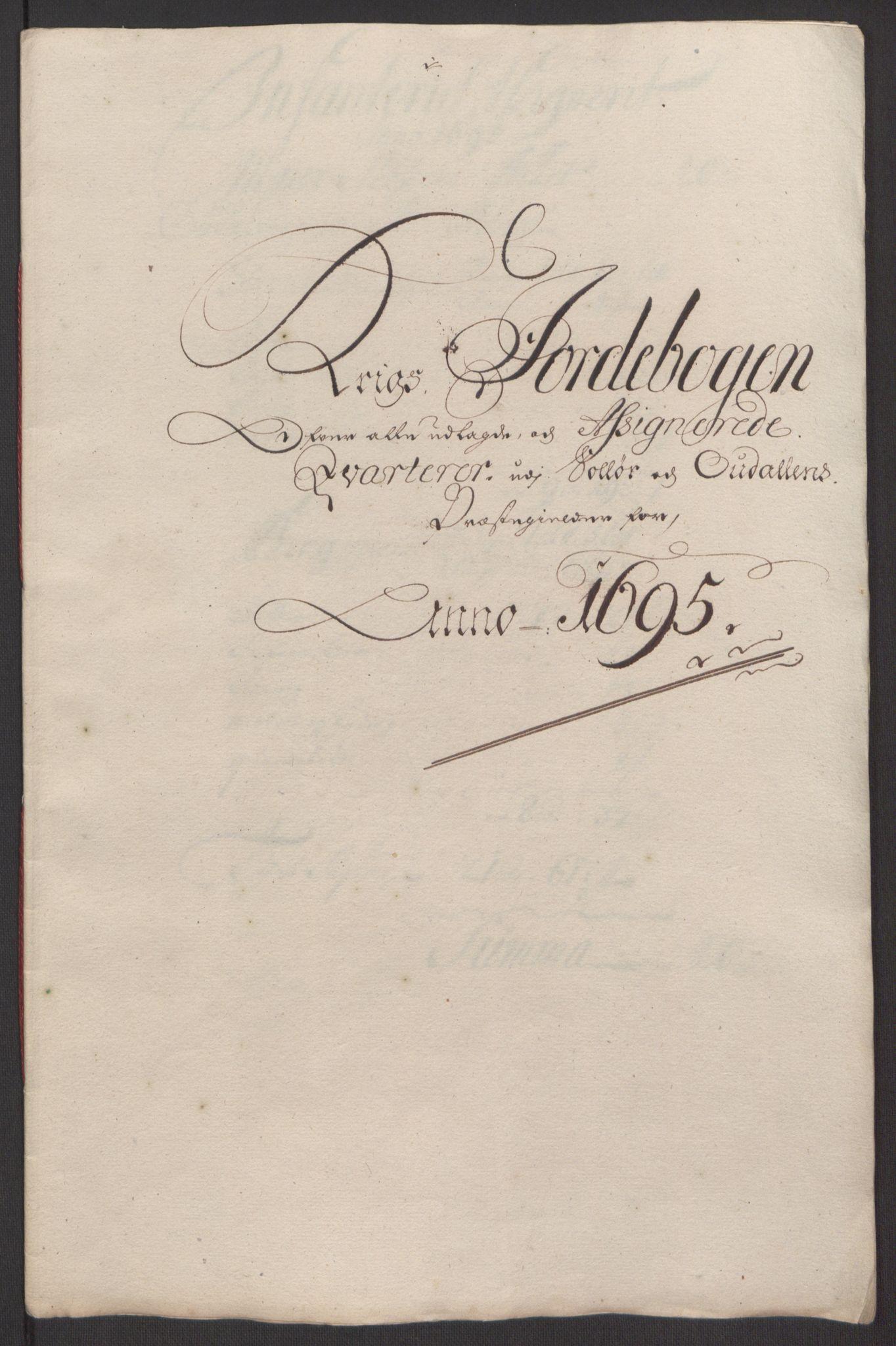 RA, Rentekammeret inntil 1814, Reviderte regnskaper, Fogderegnskap, R13/L0833: Fogderegnskap Solør, Odal og Østerdal, 1695, s. 283