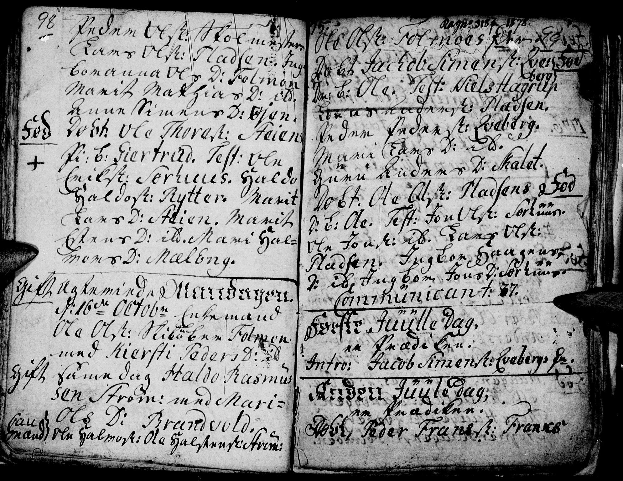 SAH, Tynset prestekontor, Ministerialbok nr. 9, 1769-1781, s. 98-99