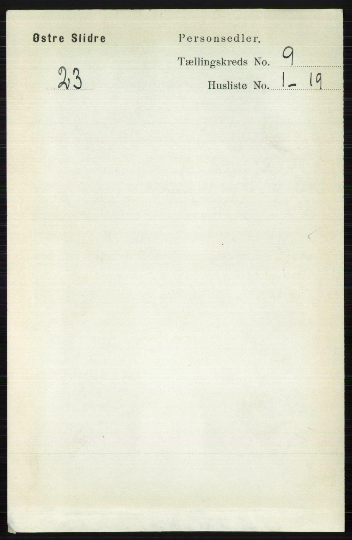 RA, Folketelling 1891 for 0544 Øystre Slidre herred, 1891, s. 3036