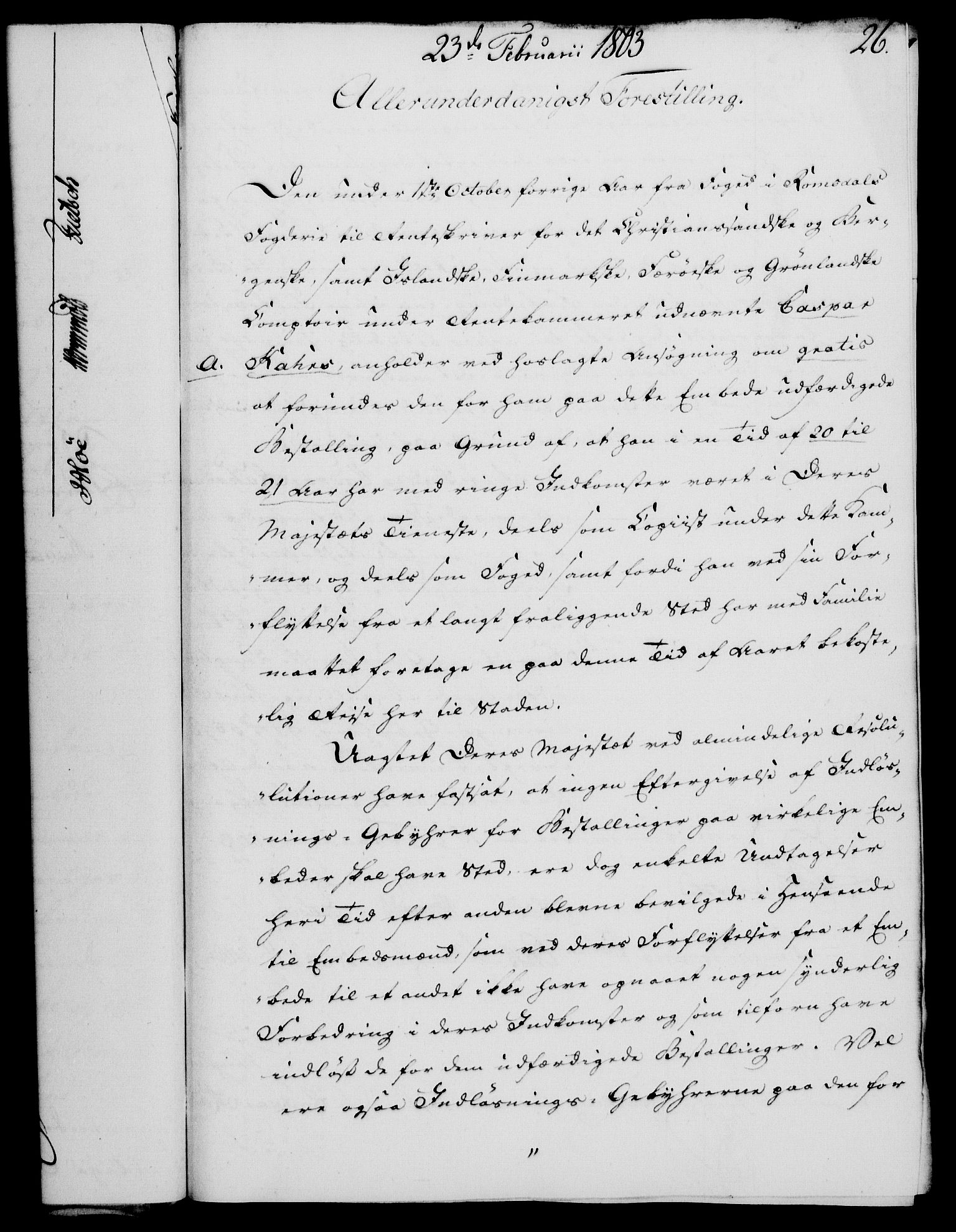 RA, Rentekammeret, Kammerkanselliet, G/Gf/Gfa/L0085: Norsk relasjons- og resolusjonsprotokoll (merket RK 52.85), 1803, s. 157