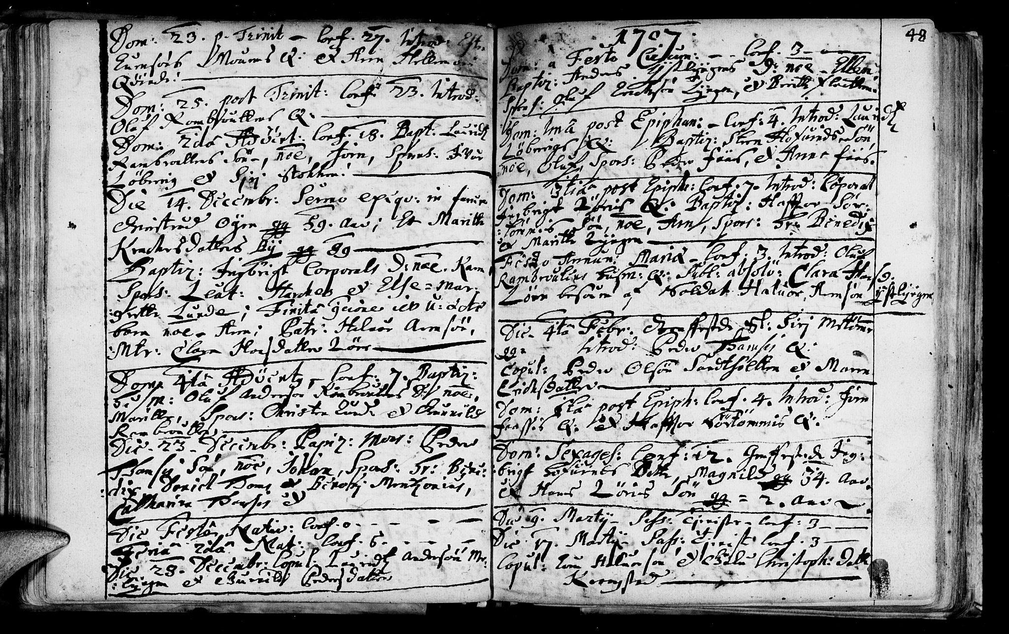 SAT, Ministerialprotokoller, klokkerbøker og fødselsregistre - Sør-Trøndelag, 692/L1101: Ministerialbok nr. 692A01, 1690-1746, s. 48