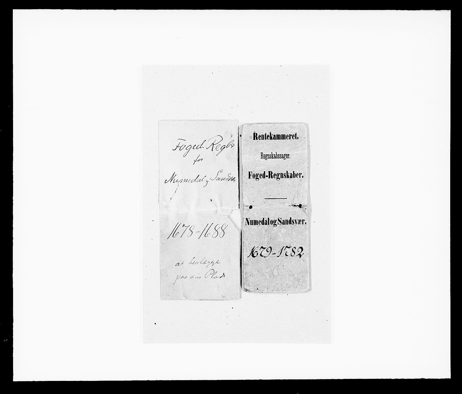 RA, Rentekammeret inntil 1814, Reviderte regnskaper, Fogderegnskap, R24/L1569: Fogderegnskap Numedal og Sandsvær, 1679-1686, s. 1