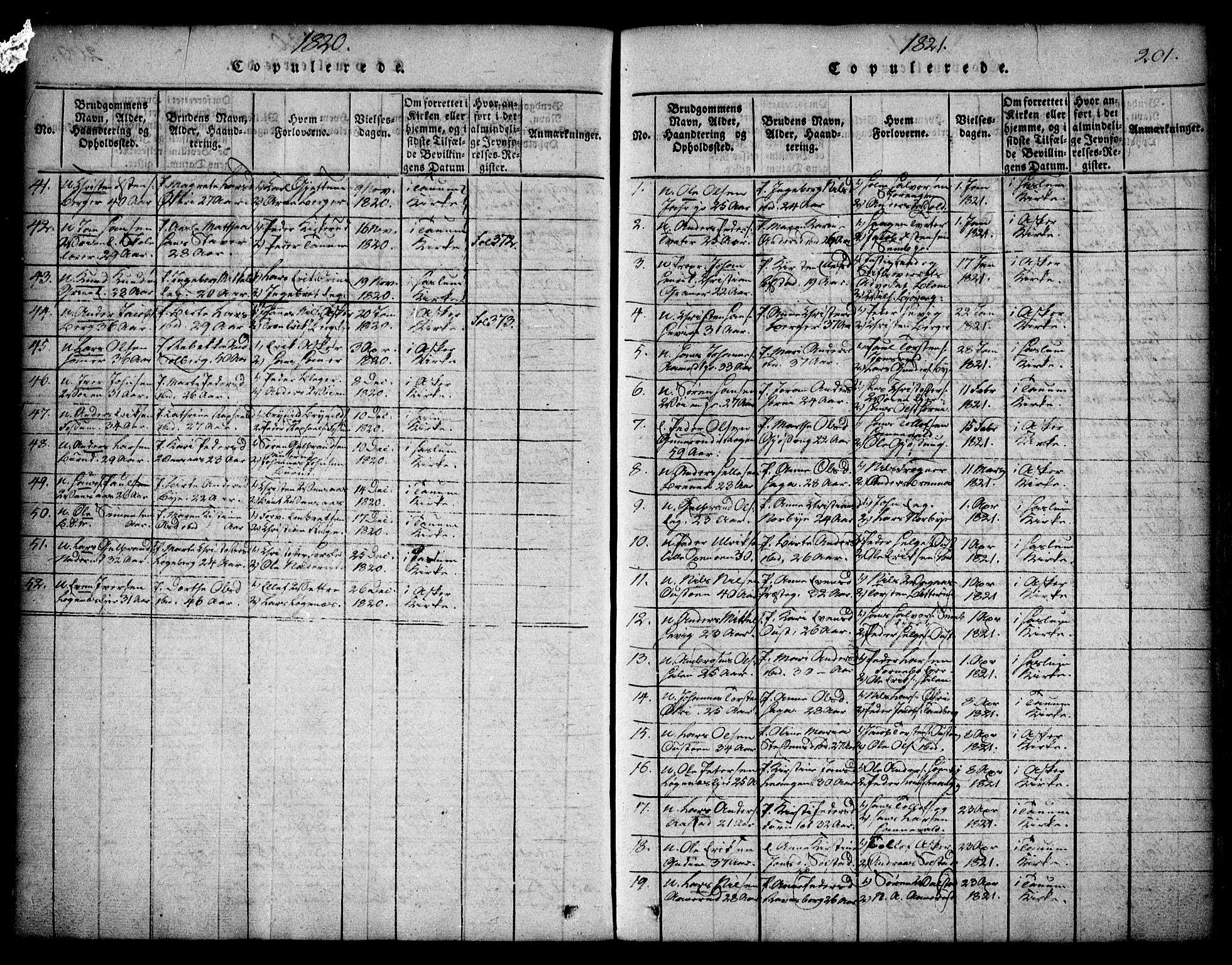 SAO, Asker prestekontor Kirkebøker, F/Fa/L0006: Ministerialbok nr. I 6, 1814-1824, s. 201