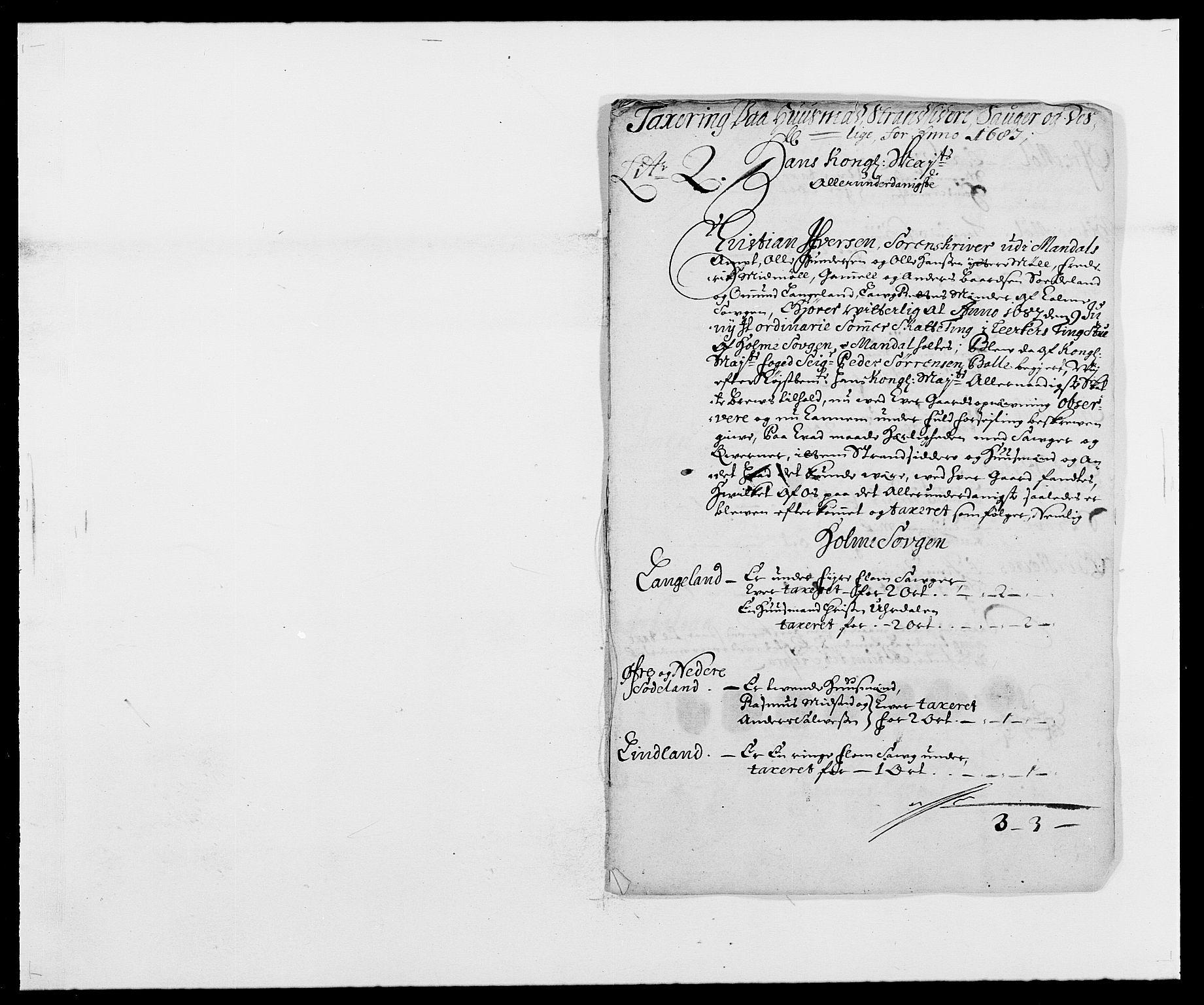 RA, Rentekammeret inntil 1814, Reviderte regnskaper, Fogderegnskap, R42/L2542: Mandal fogderi, 1685-1687, s. 212