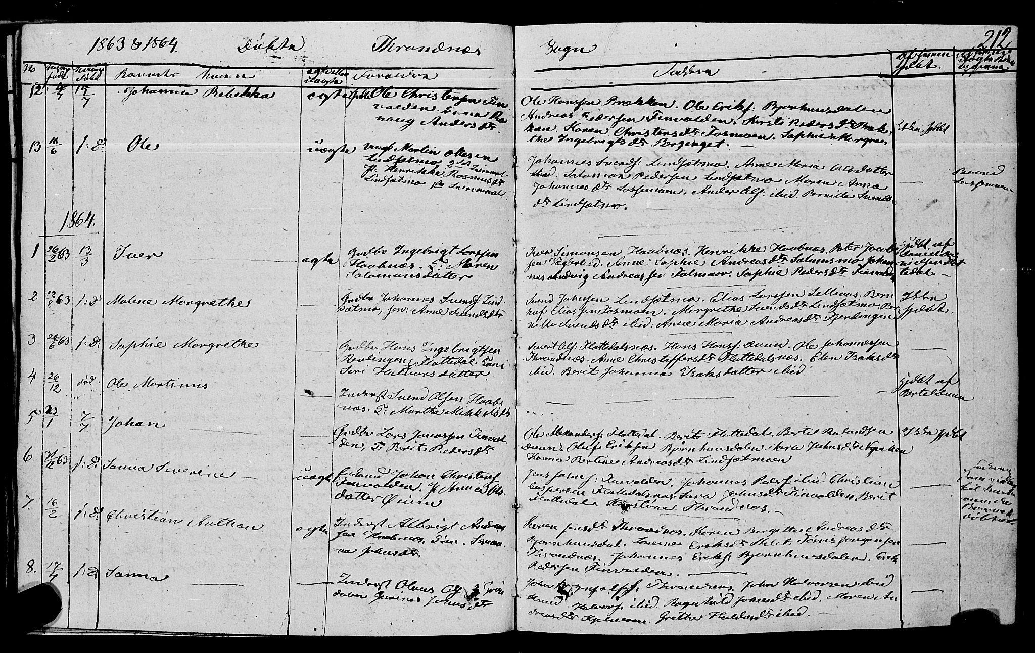 SAT, Ministerialprotokoller, klokkerbøker og fødselsregistre - Nord-Trøndelag, 762/L0538: Ministerialbok nr. 762A02 /2, 1833-1879, s. 212