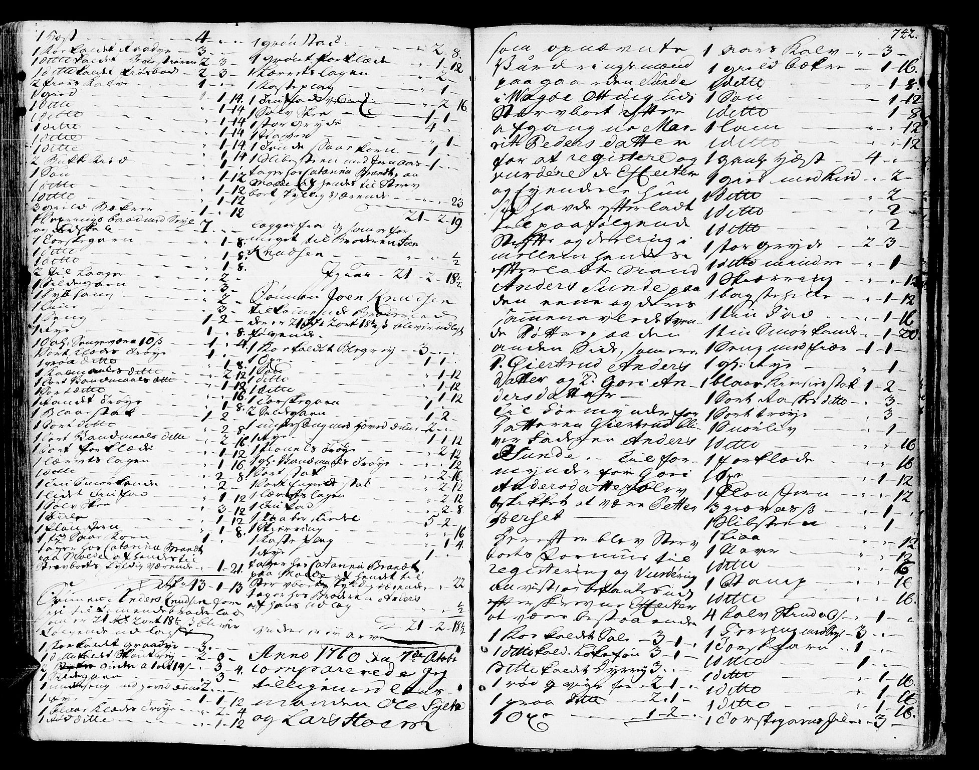 SAT, Romsdal sorenskriveri, 3/3A/L0008: Skifteprotokoll, 1752-1761, s. 741b-742a
