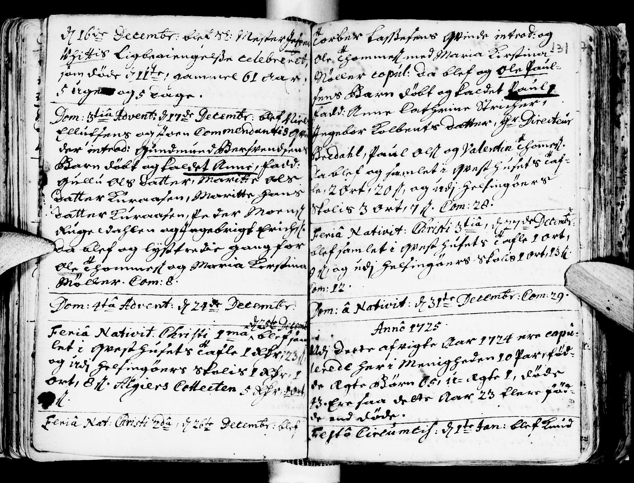 SAT, Ministerialprotokoller, klokkerbøker og fødselsregistre - Sør-Trøndelag, 681/L0924: Ministerialbok nr. 681A02, 1720-1731, s. 130-131