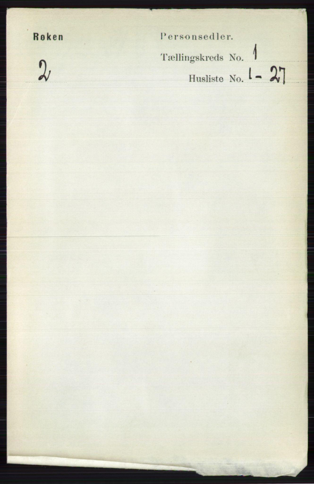 RA, Folketelling 1891 for 0627 Røyken herred, 1891, s. 83