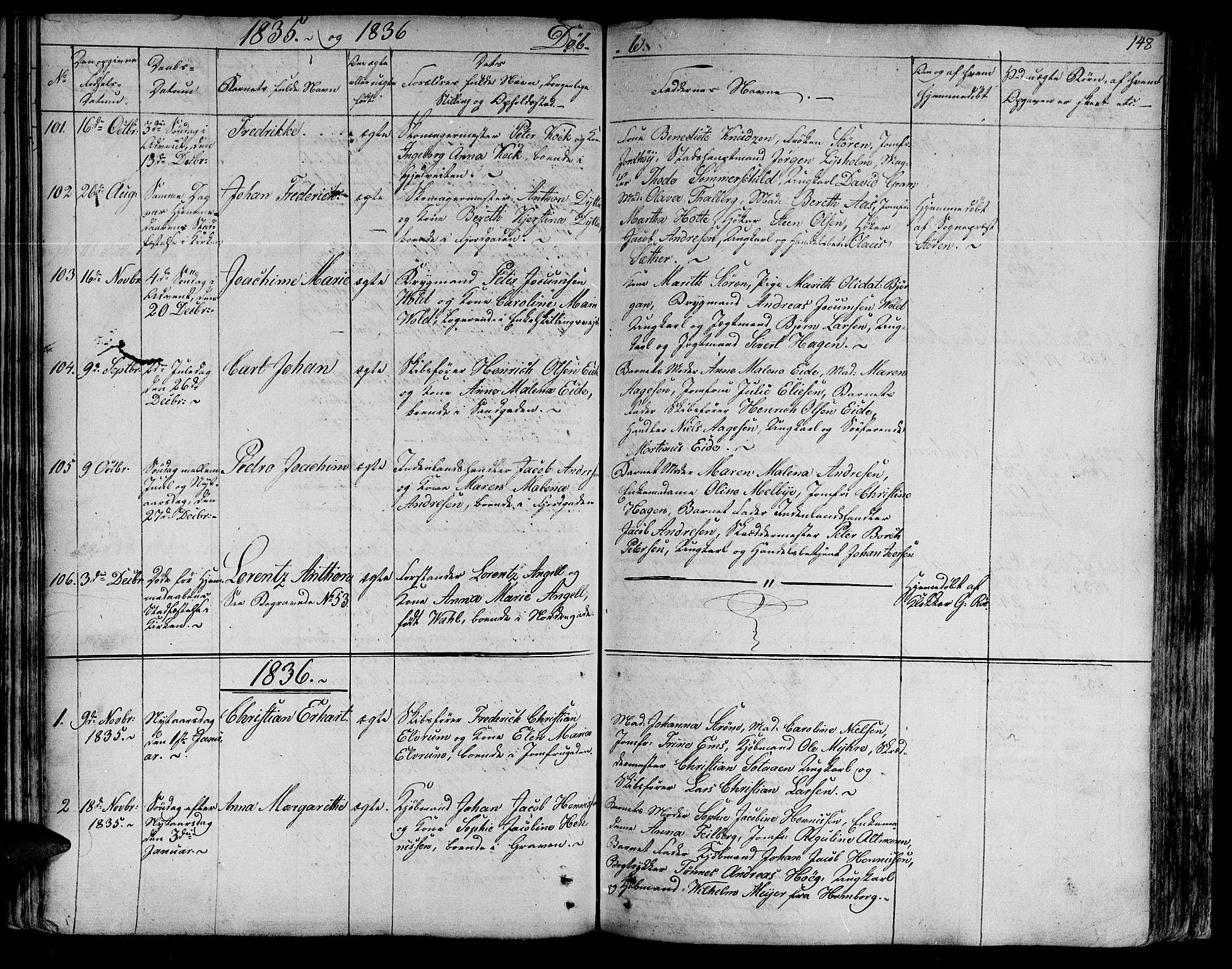 SAT, Ministerialprotokoller, klokkerbøker og fødselsregistre - Sør-Trøndelag, 602/L0108: Ministerialbok nr. 602A06, 1821-1839, s. 148