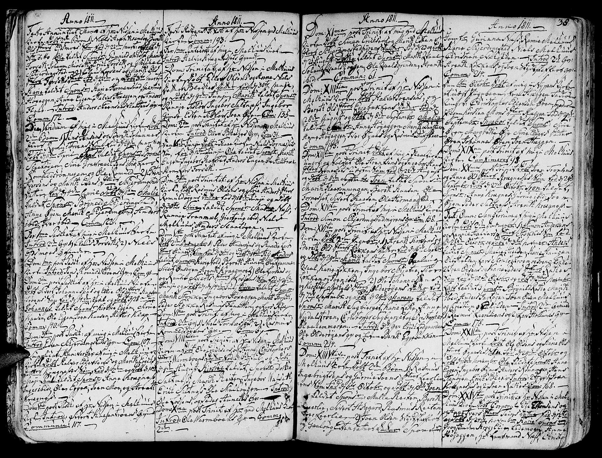 SAT, Ministerialprotokoller, klokkerbøker og fødselsregistre - Sør-Trøndelag, 691/L1061: Ministerialbok nr. 691A02 /1, 1768-1815, s. 38