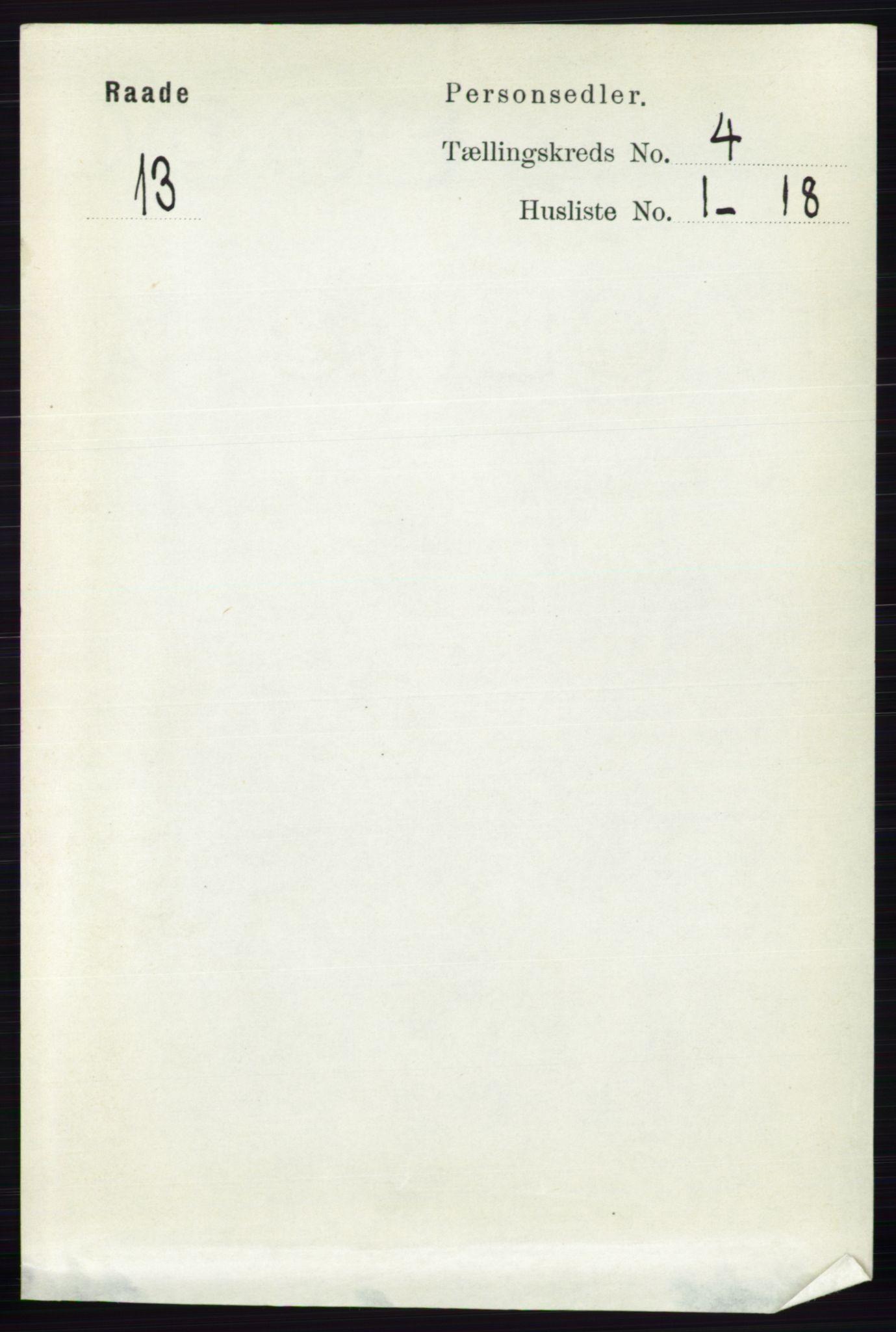 RA, Folketelling 1891 for 0135 Råde herred, 1891, s. 1853
