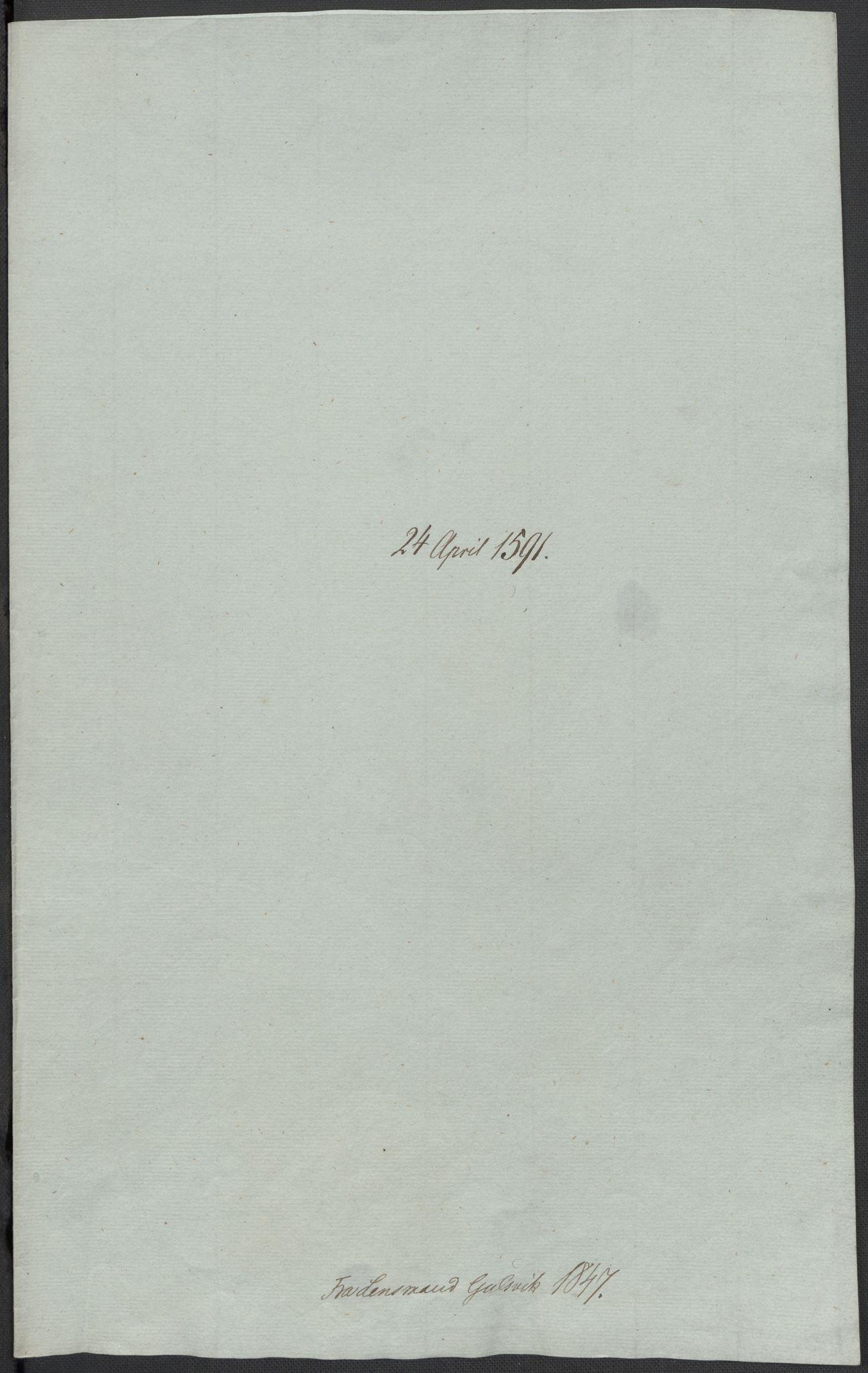 RA, Riksarkivets diplomsamling, F02/L0093: Dokumenter, 1591, s. 68