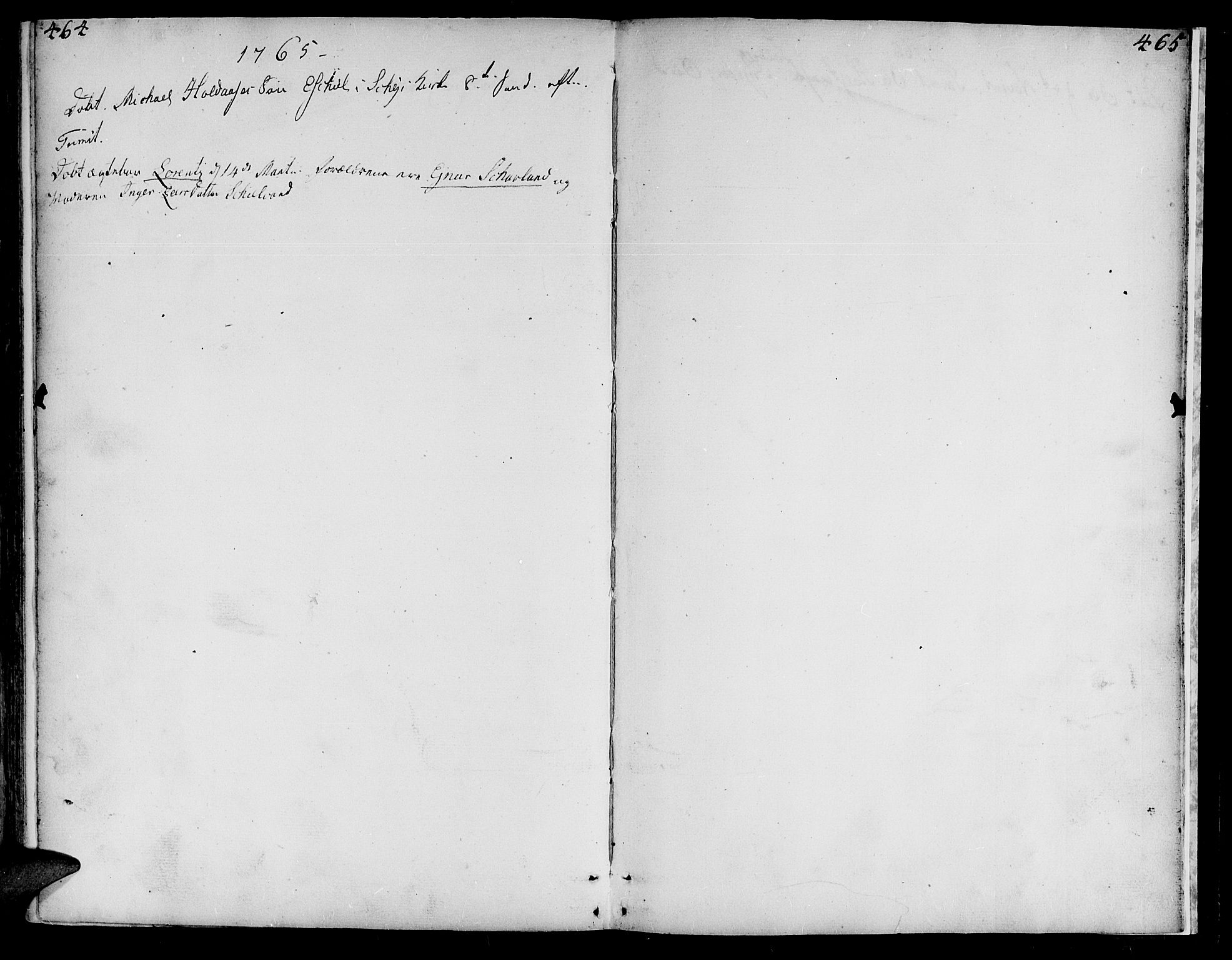 SAT, Ministerialprotokoller, klokkerbøker og fødselsregistre - Nord-Trøndelag, 735/L0330: Ministerialbok nr. 735A01, 1740-1766, s. 464-465