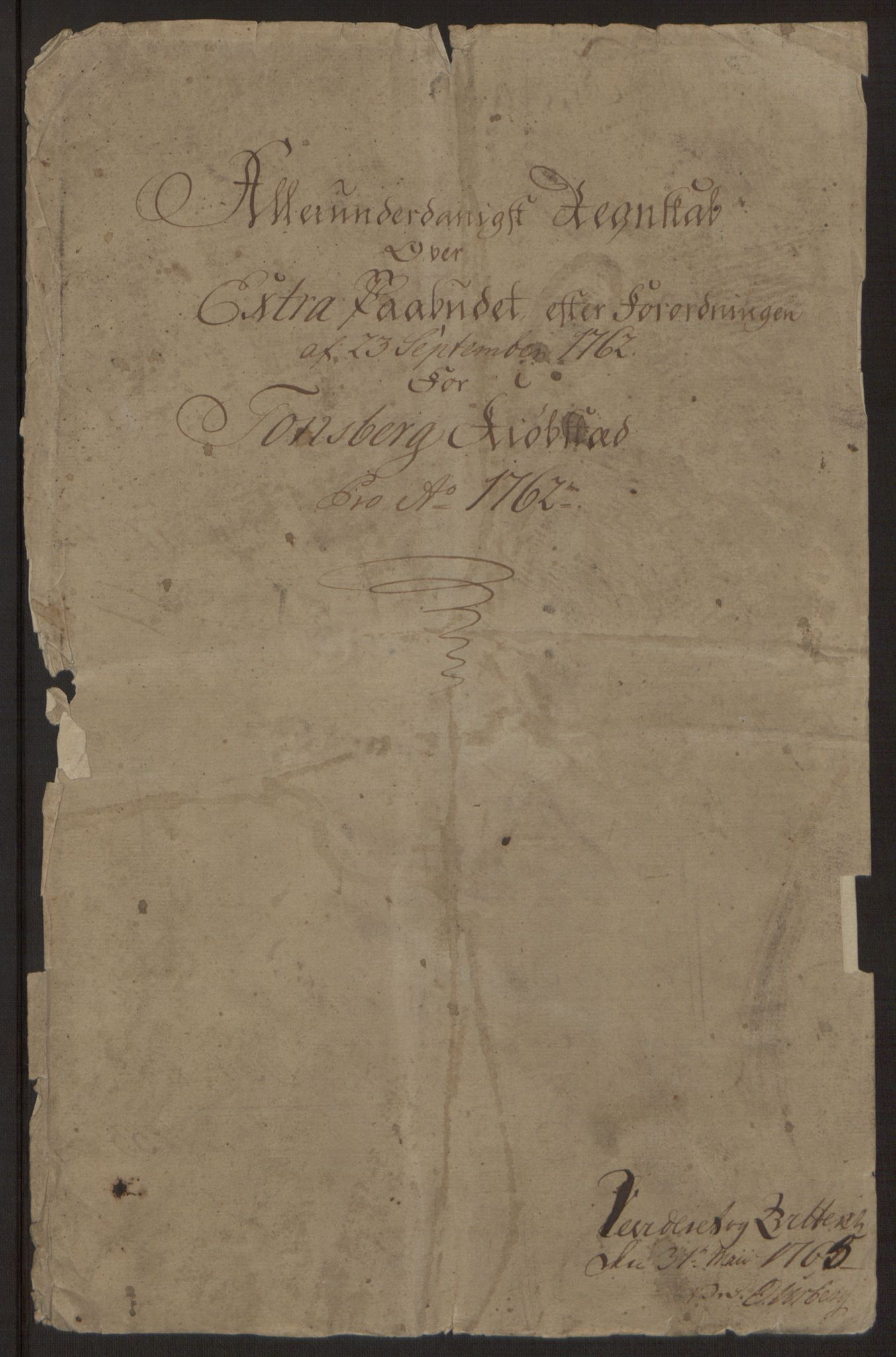 RA, Rentekammeret inntil 1814, Reviderte regnskaper, Byregnskaper, R/Rh/L0162: [H4] Kontribusjonsregnskap, 1762-1772, s. 4