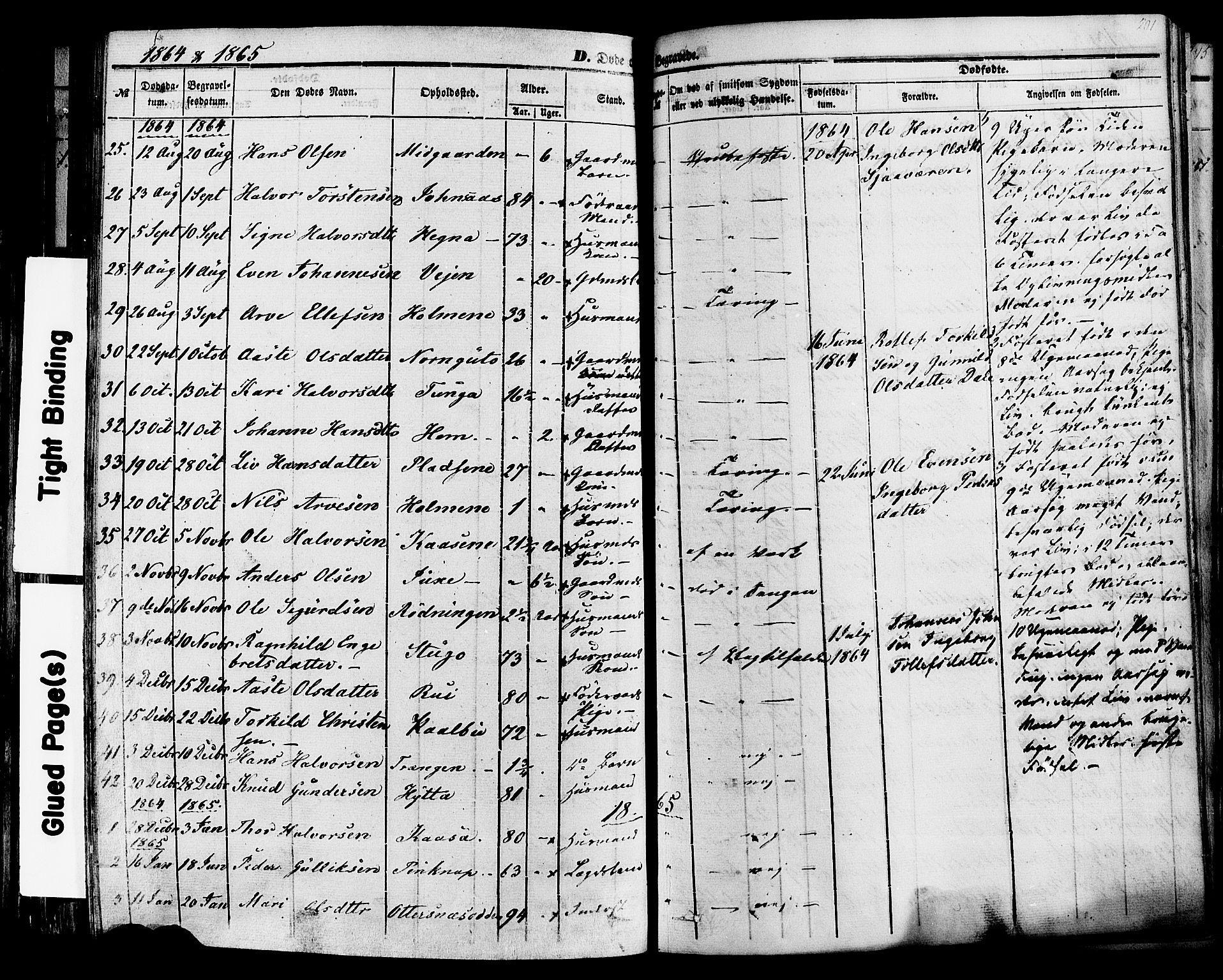 SAKO, Sauherad kirkebøker, F/Fa/L0007: Ministerialbok nr. I 7, 1851-1873, s. 201