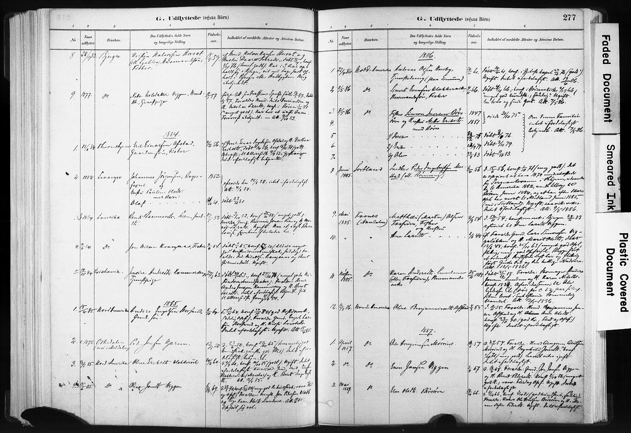SAT, Ministerialprotokoller, klokkerbøker og fødselsregistre - Sør-Trøndelag, 665/L0773: Ministerialbok nr. 665A08, 1879-1905, s. 277