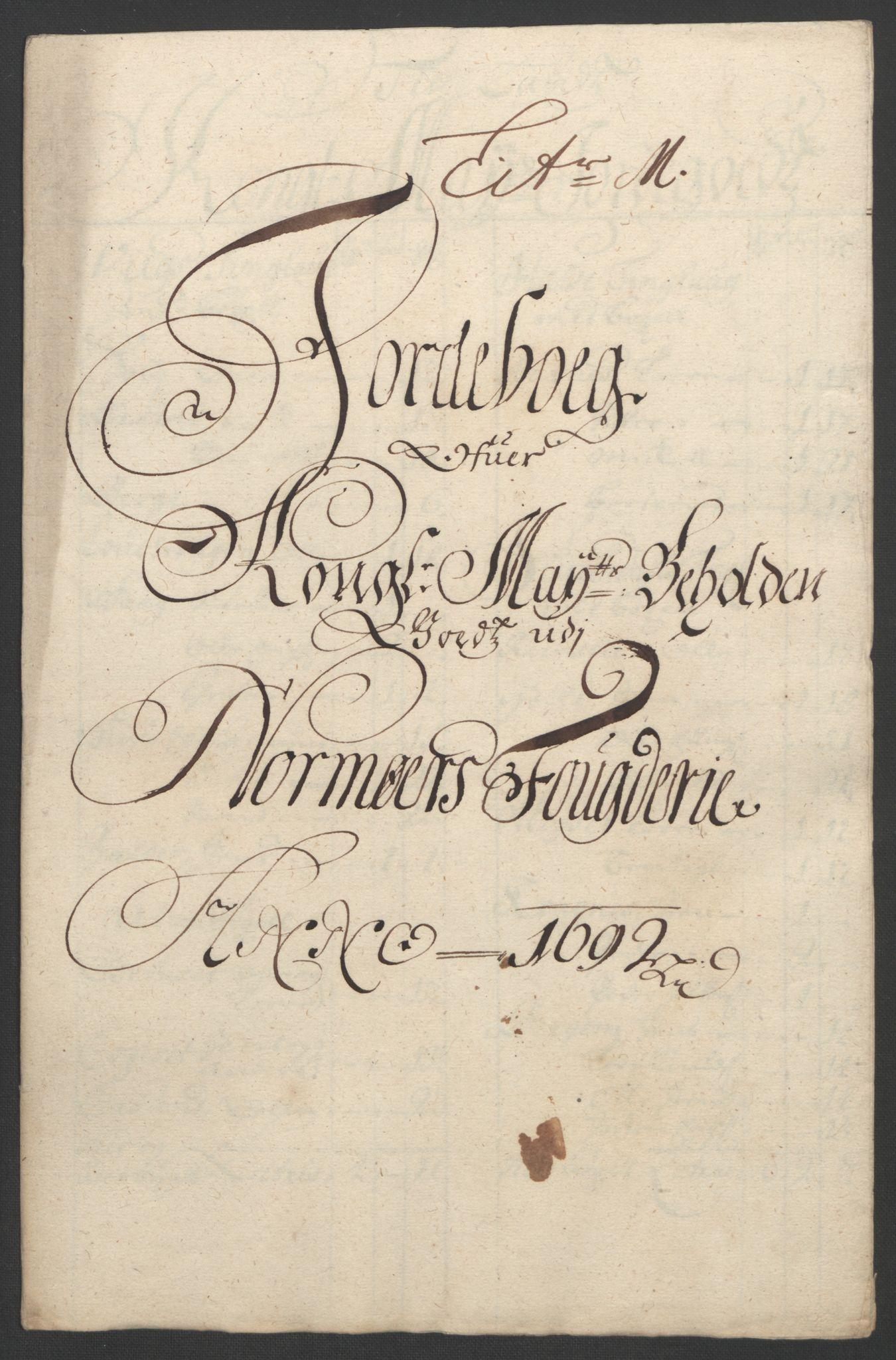 RA, Rentekammeret inntil 1814, Reviderte regnskaper, Fogderegnskap, R56/L3735: Fogderegnskap Nordmøre, 1692-1693, s. 159