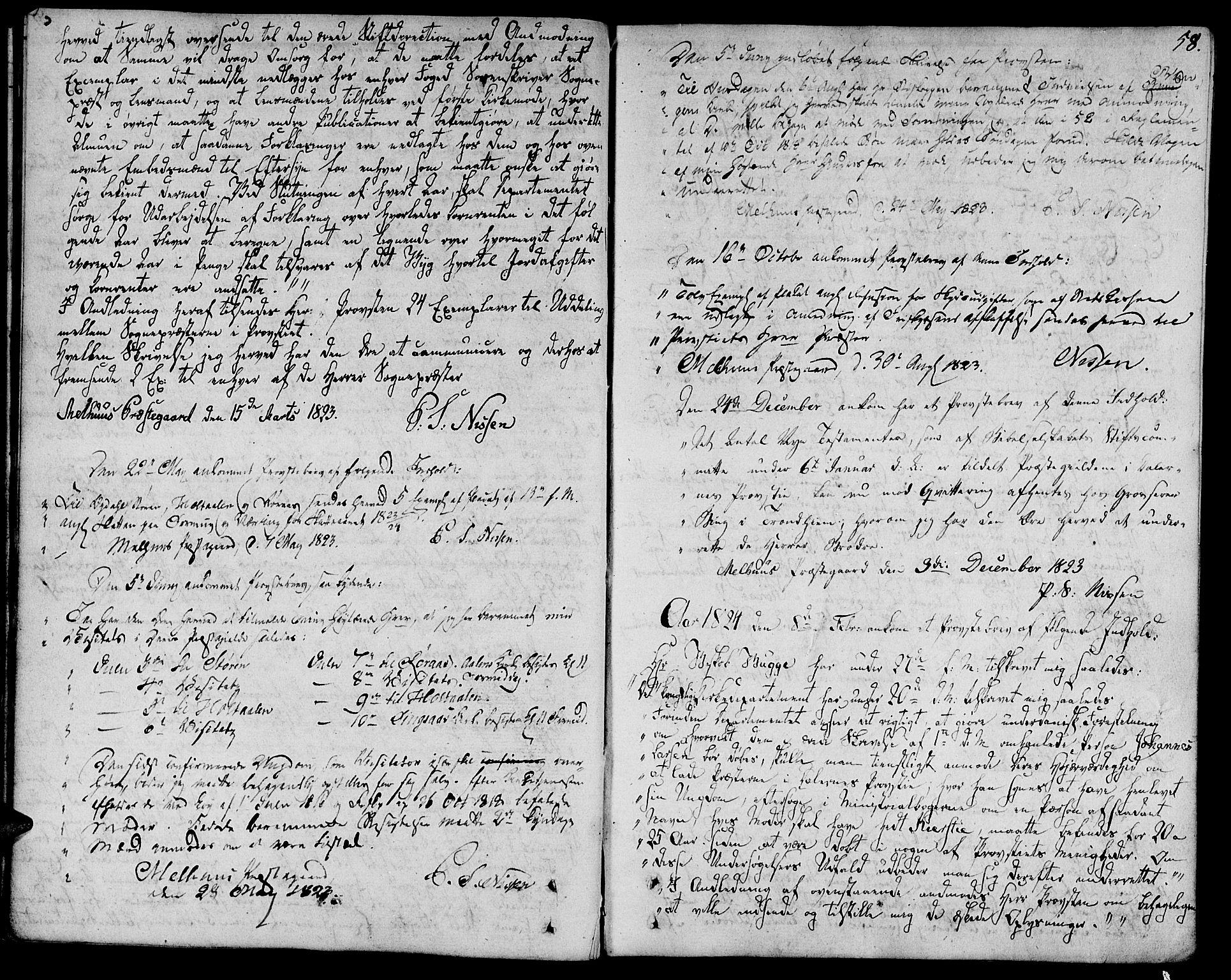 SAT, Ministerialprotokoller, klokkerbøker og fødselsregistre - Sør-Trøndelag, 685/L0953: Ministerialbok nr. 685A02, 1805-1816, s. 58
