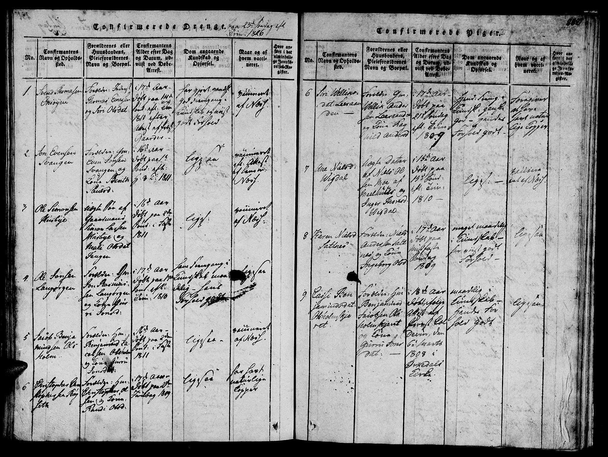 SAT, Ministerialprotokoller, klokkerbøker og fødselsregistre - Sør-Trøndelag, 612/L0373: Ministerialbok nr. 612A06 /2, 1816-1828, s. 282