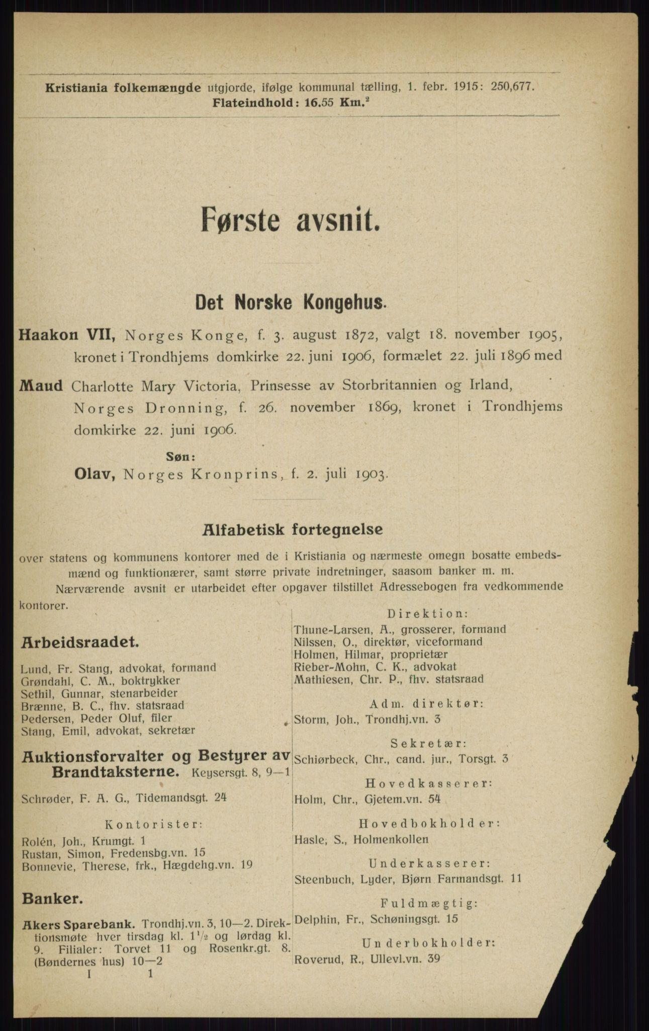 RA, Kristiania adressebok (publikasjon)*, 1916, s. 29