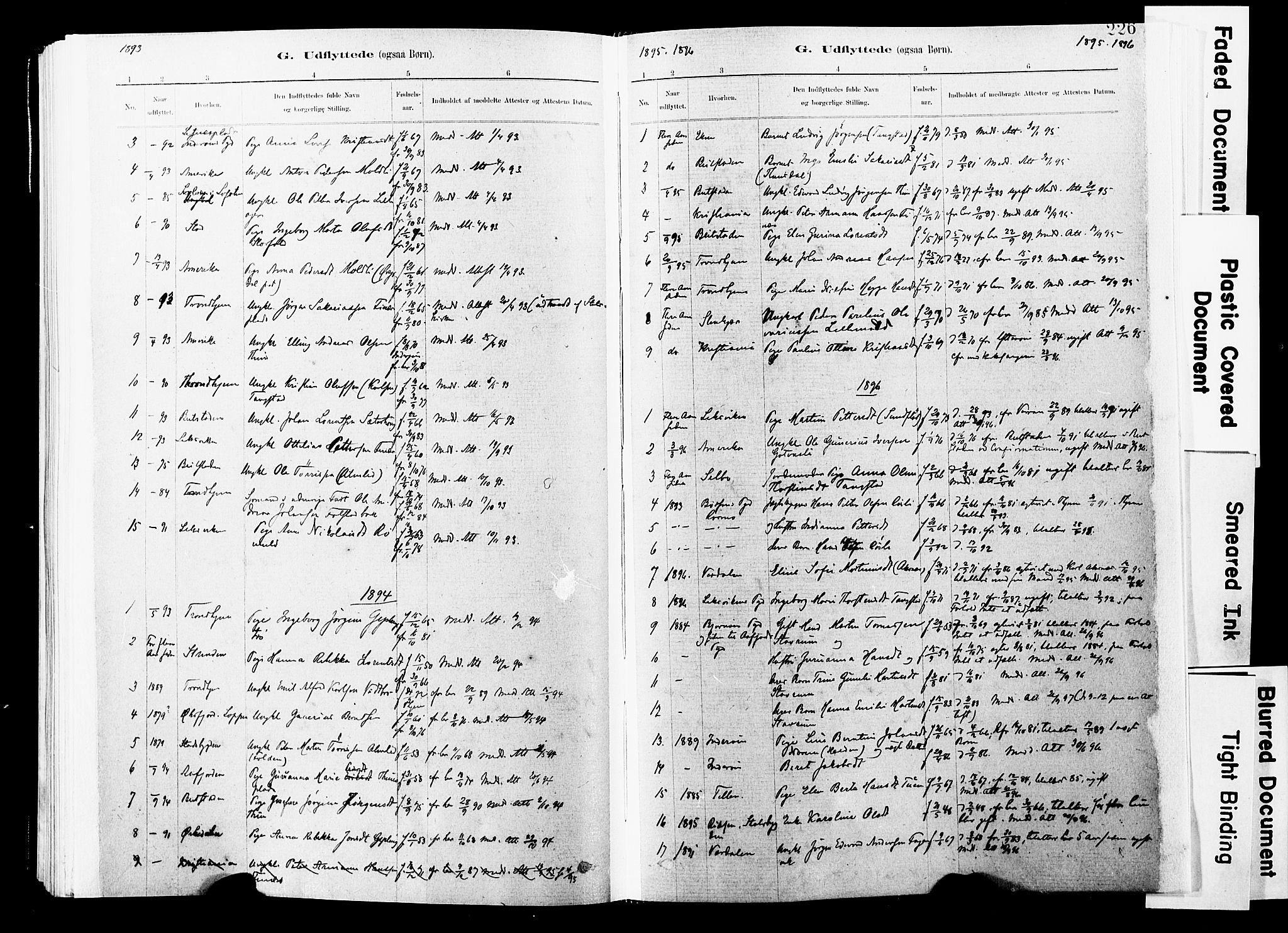 SAT, Ministerialprotokoller, klokkerbøker og fødselsregistre - Nord-Trøndelag, 744/L0420: Ministerialbok nr. 744A04, 1882-1904, s. 226
