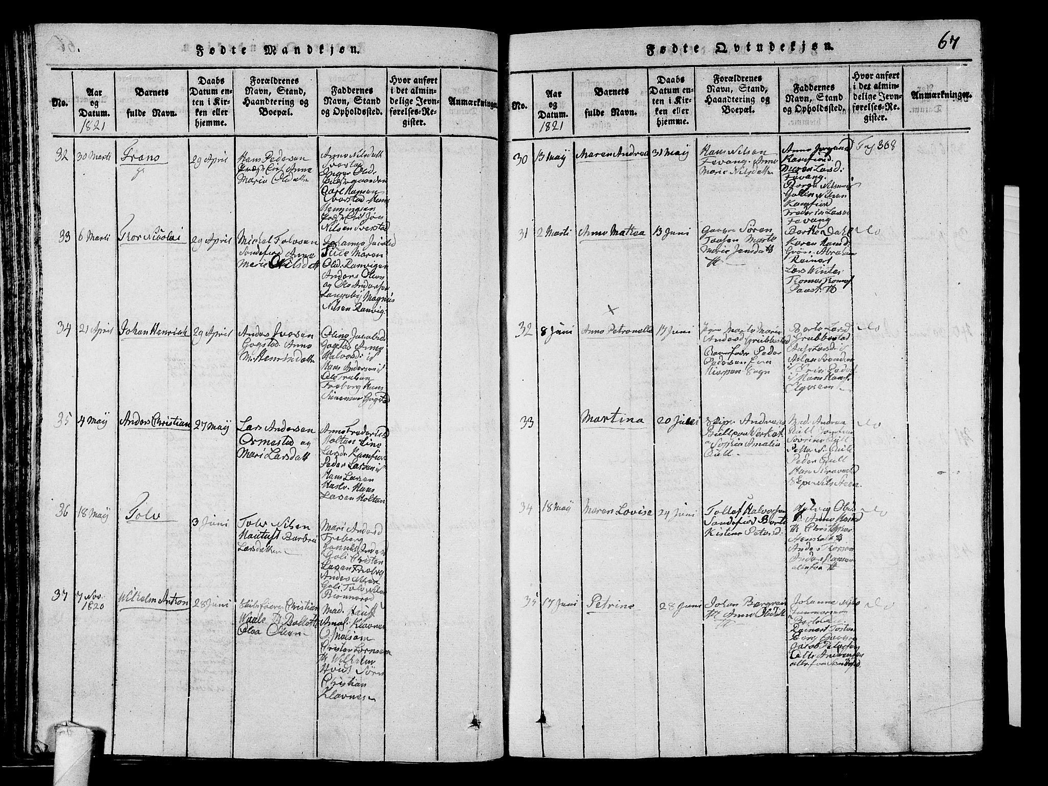 SAKO, Sandar kirkebøker, G/Ga/L0001: Klokkerbok nr. 1, 1814-1835, s. 67