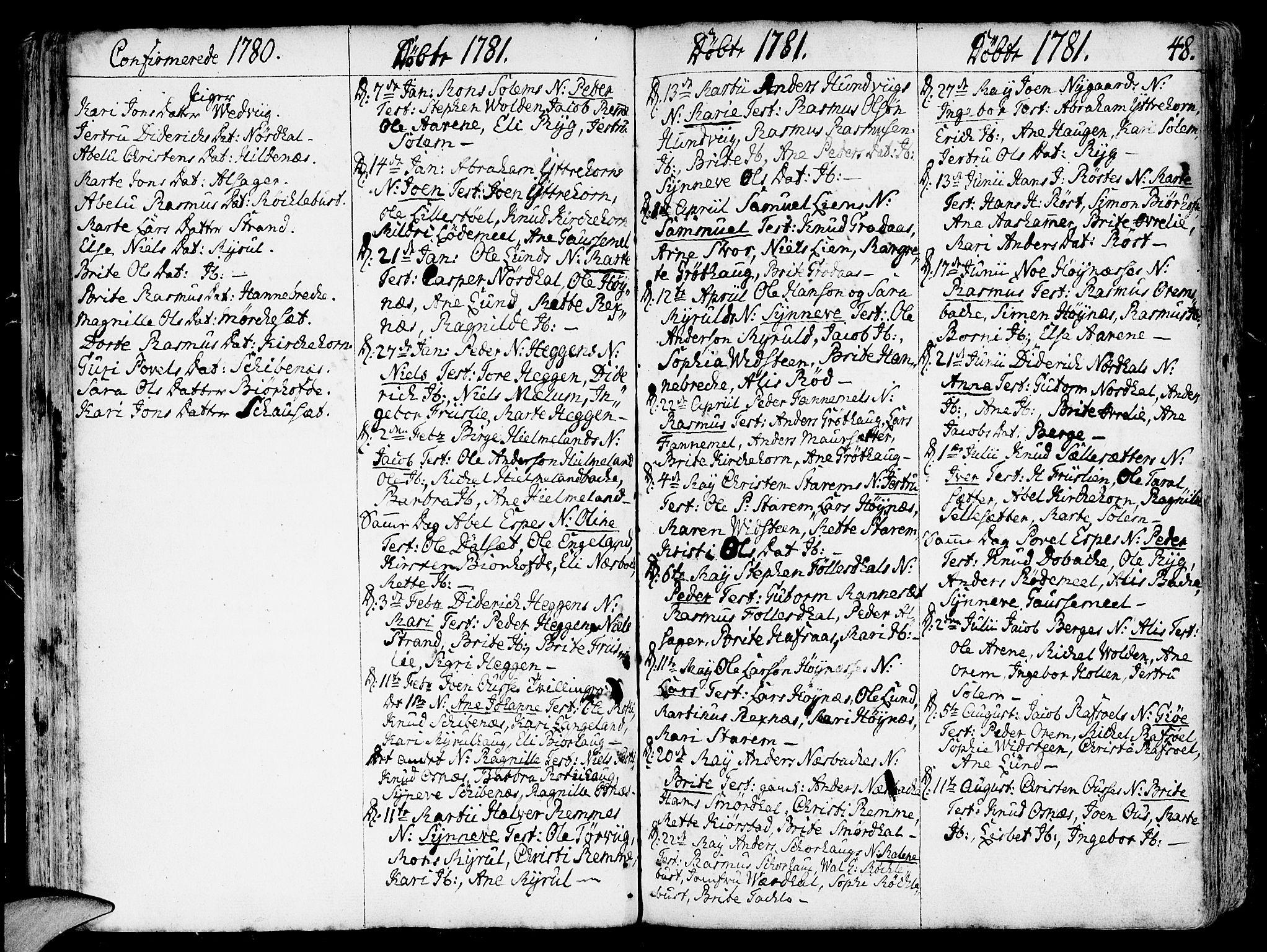 SAB, Eid Sokneprestembete, H/Haa: Ministerialbok nr. A 3, 1770-1805, s. 48